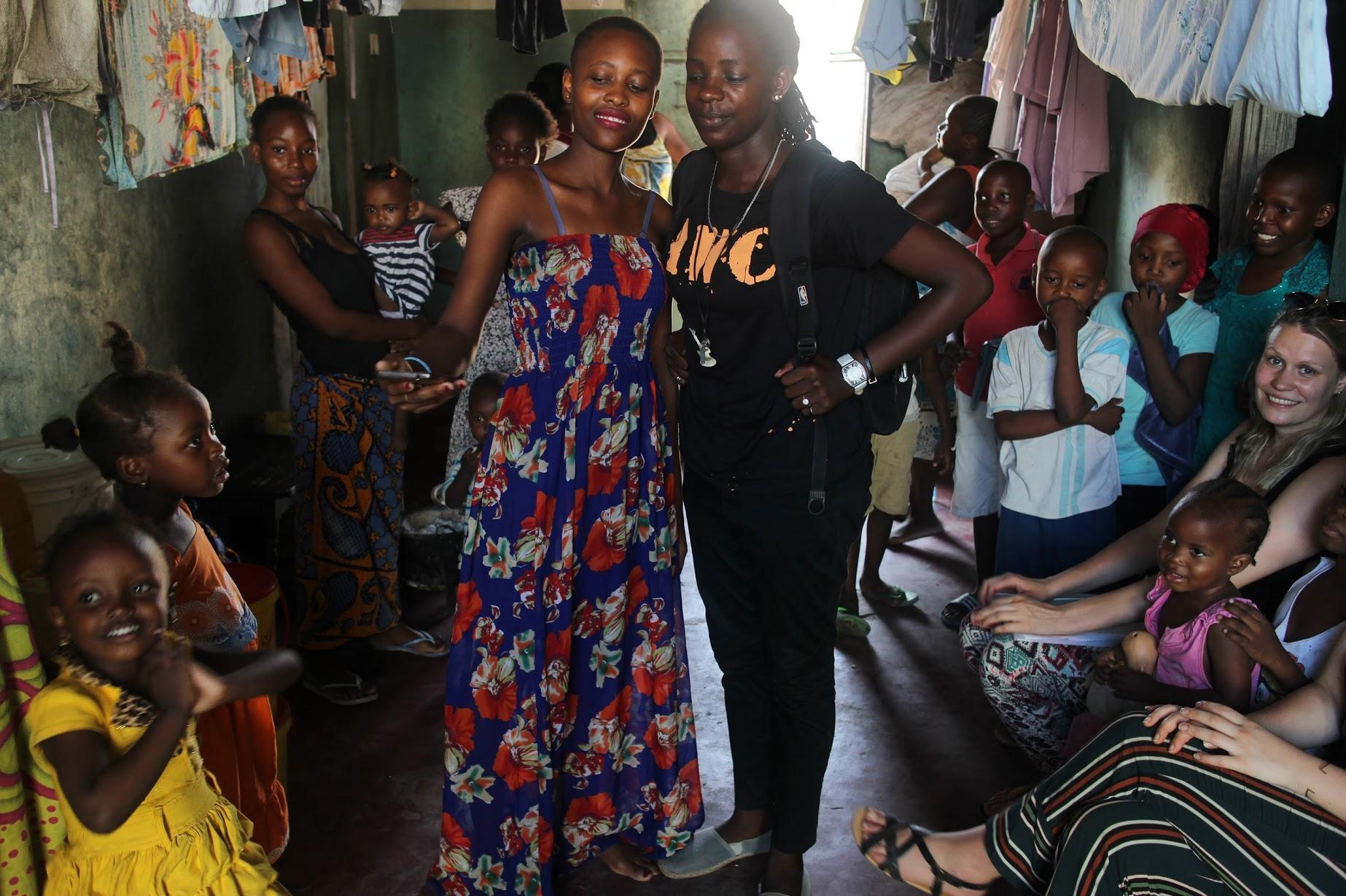 People in  Bombolulu , near Mombasa, Kenya
