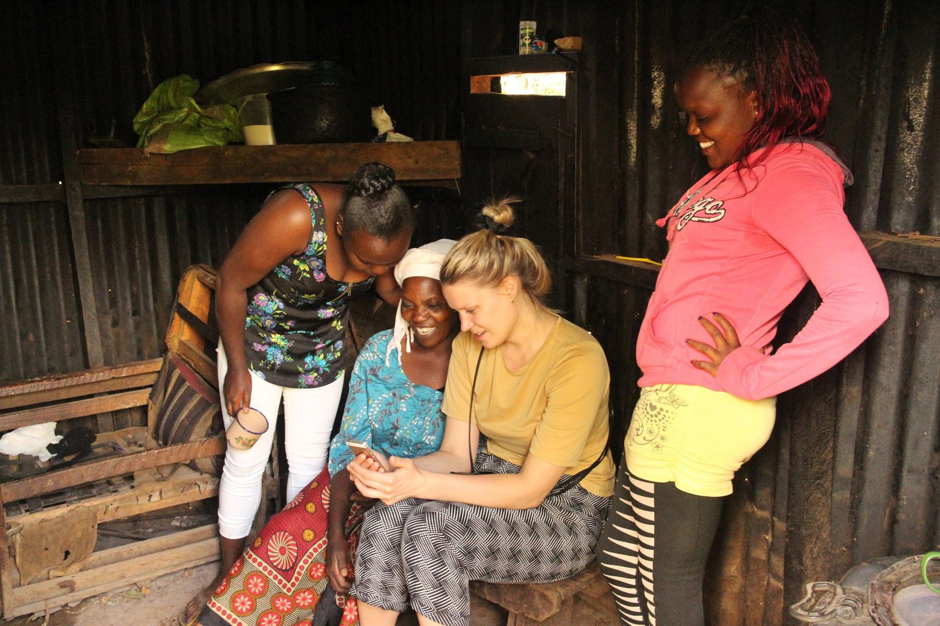 Cultural exchange in  Gacharageini village , Kenya
