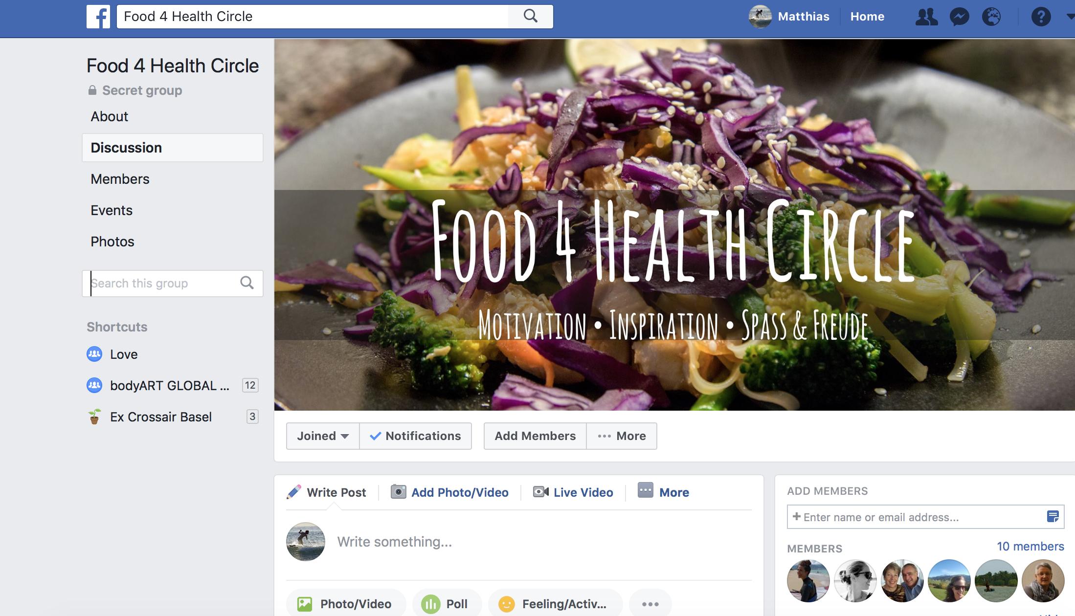 Food 4 Health Circle Facebook