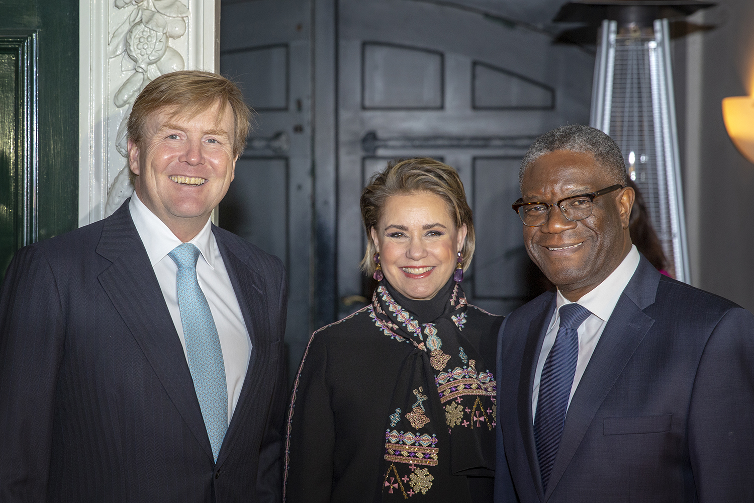 King Willem-Alexander meets dr. Denis Mukwege and wartime sexual violence survivors