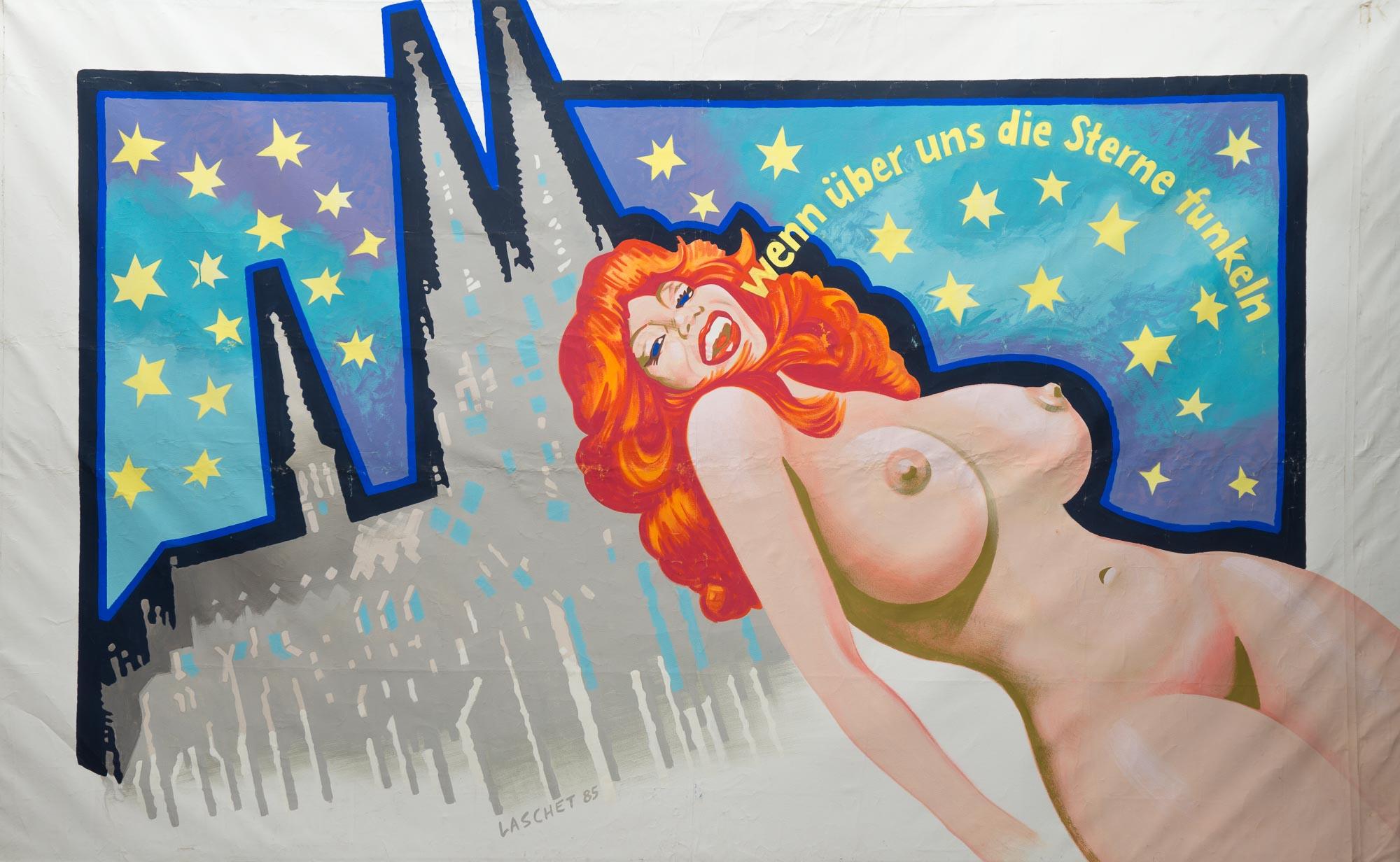 - Wenn über uns die Sterne funkelnTempera auf Leinwand, 1985, 380 x 236 cm