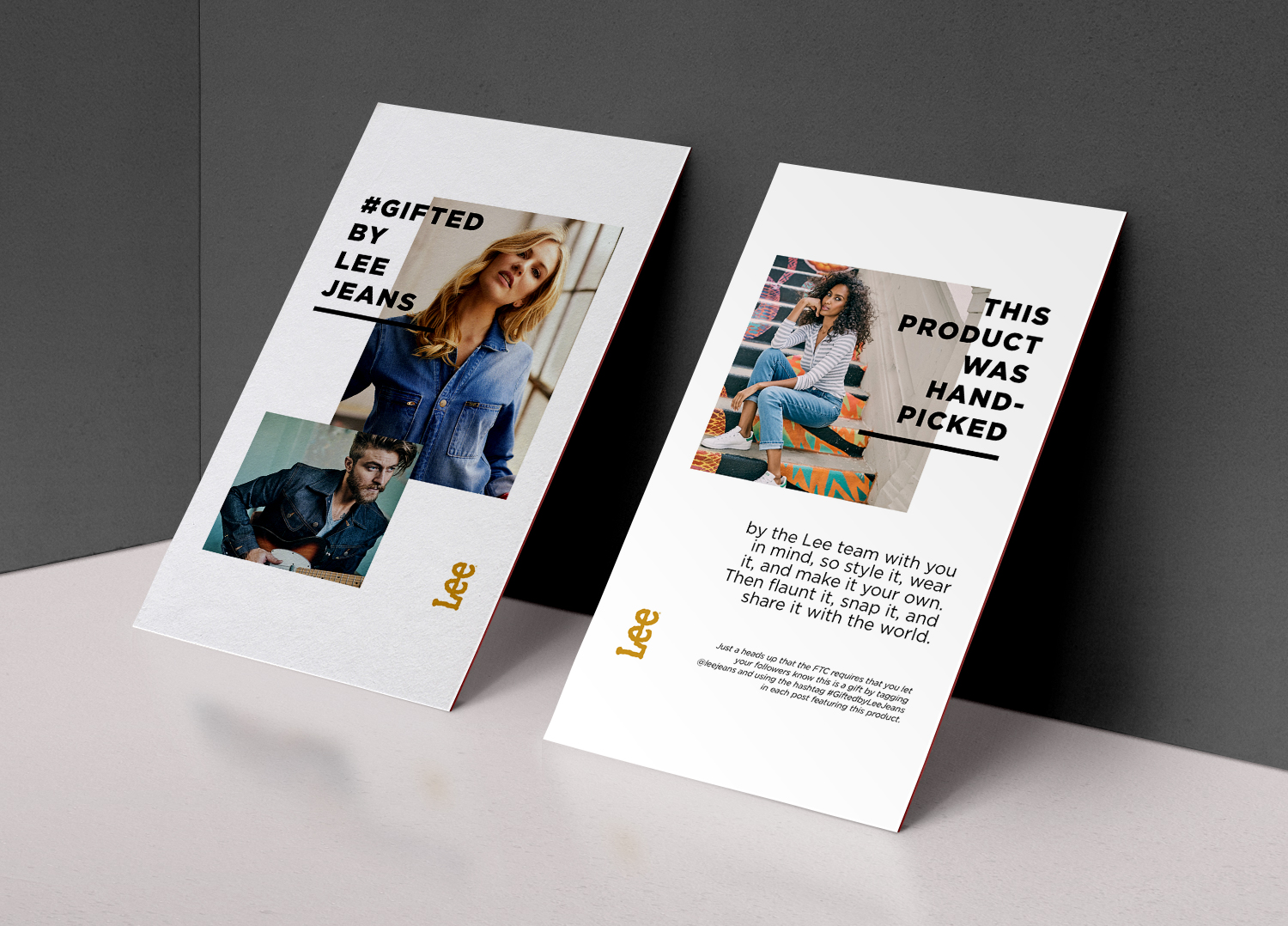 Influencers - We also redesigned the cards that accompany the products we send to influencers.