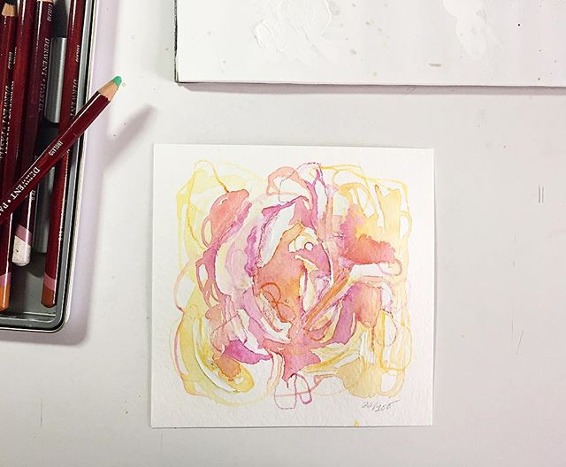 Watercolor, acrylic, and pastel on paper. Day 22/100 of #the100dayproject . . Continuous In this motion - Trying to connect and Balance And regain What we lost.  In the push and pull Of the body and mind.  When only trust  Is the answer.  Trust and passion And work ethic.  There we will find. There we will find. . . Connecting the body and mind, and thinking a lot about this daily practice, daily decisions, and daily rituals. Taking it one day at a time. #limnhouse100days #abstractart #mixedmedia