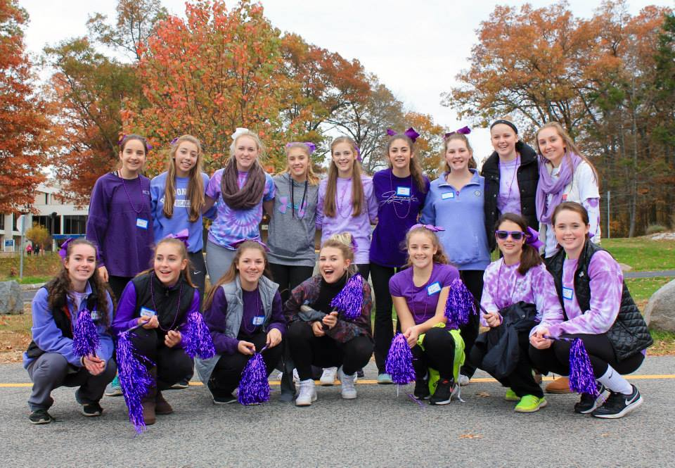 A special thank you to the Norwell High School Cheerleaders for volunteering their time each year to encourage our walkers!