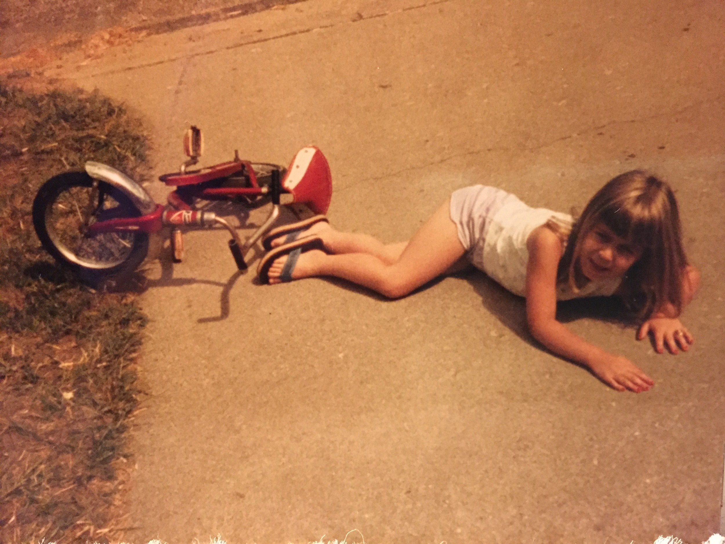 I learned at a young age to get back on the horse (or red bicycle).