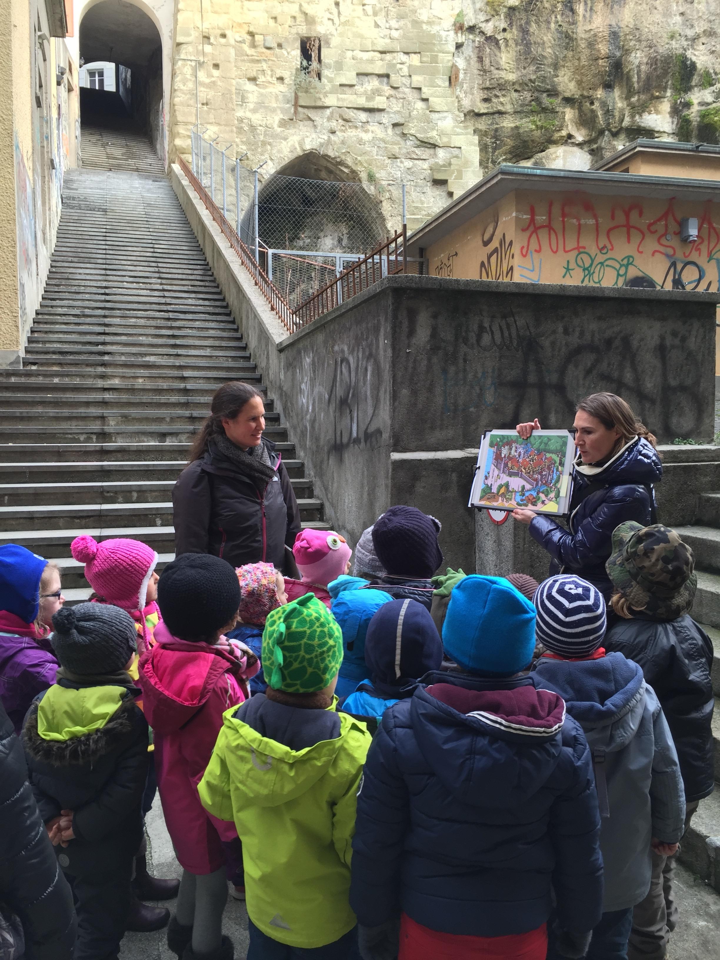 Lausanne, Collège Les bergers, visite de La Cité, classe 1-2P de Mme Vittoz // janv. 16