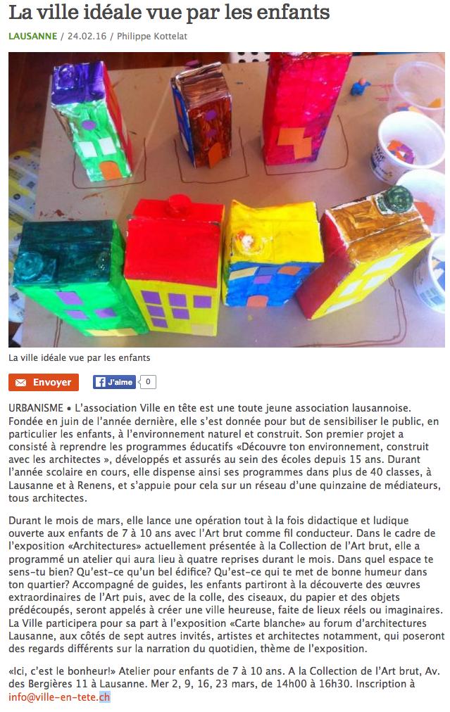fev. 2016 // journal Lausanne Cités
