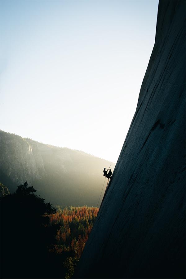 Climber descending El Capitan   Fuji X-T10 + FX 18mm f2.0