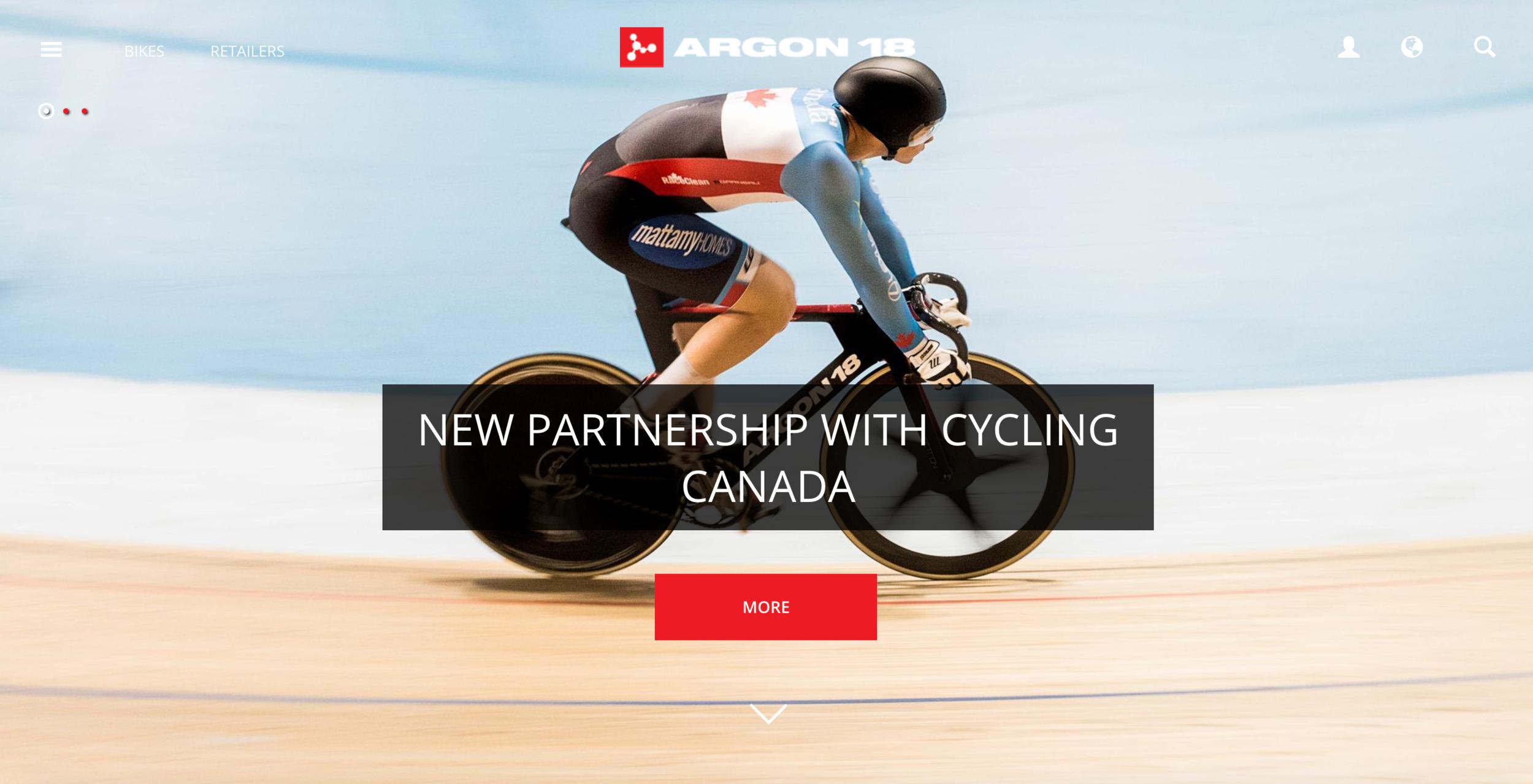Argon 18 cycling Canada partnership ancouncment