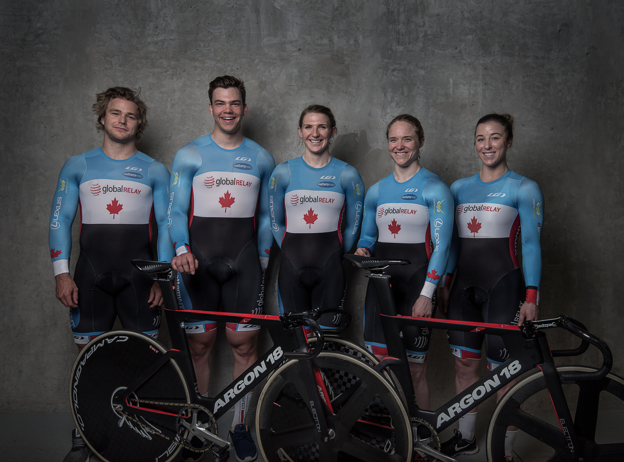 Canadian Track cycling sprinters 2017