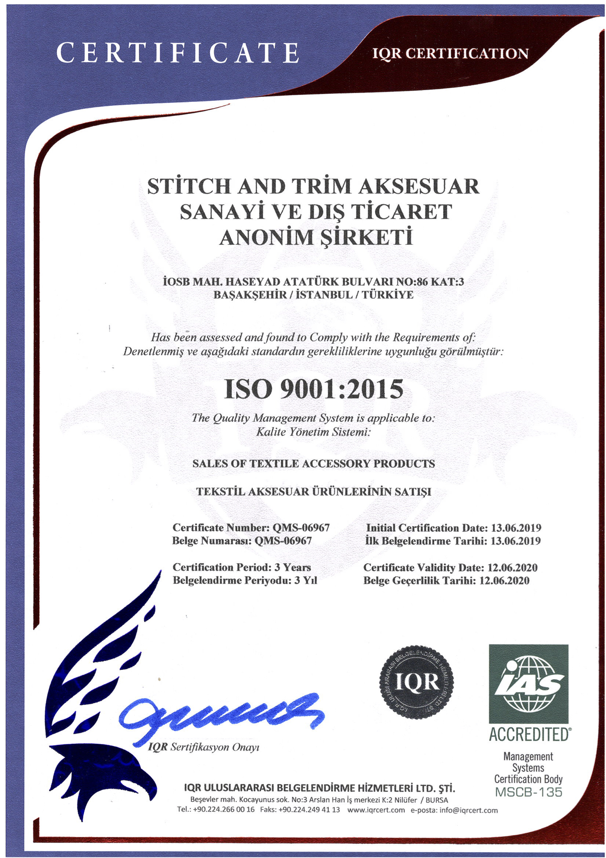 ISO 9001:2015 (THE QUALITY MANAGEMENT SYSTEM)