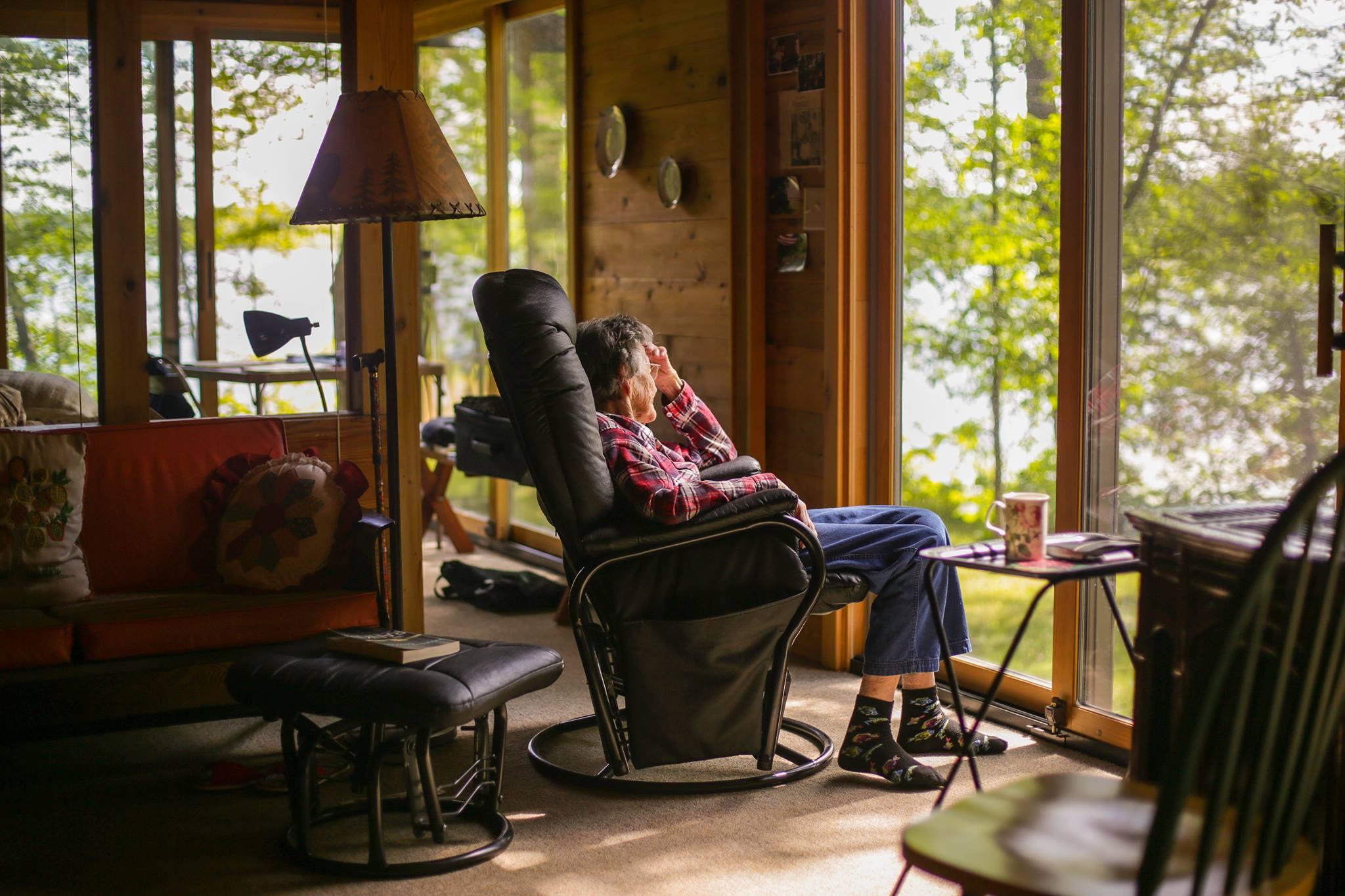 Grandma Dorcas at the Lake Cabin, Tonseth, MN