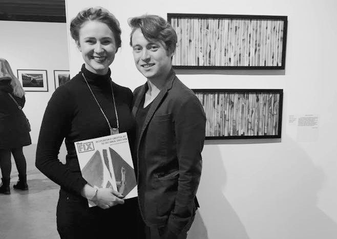 Me and Sean Eaton, the new Editor-in-Chief, with the catalogue at the first annual juried show
