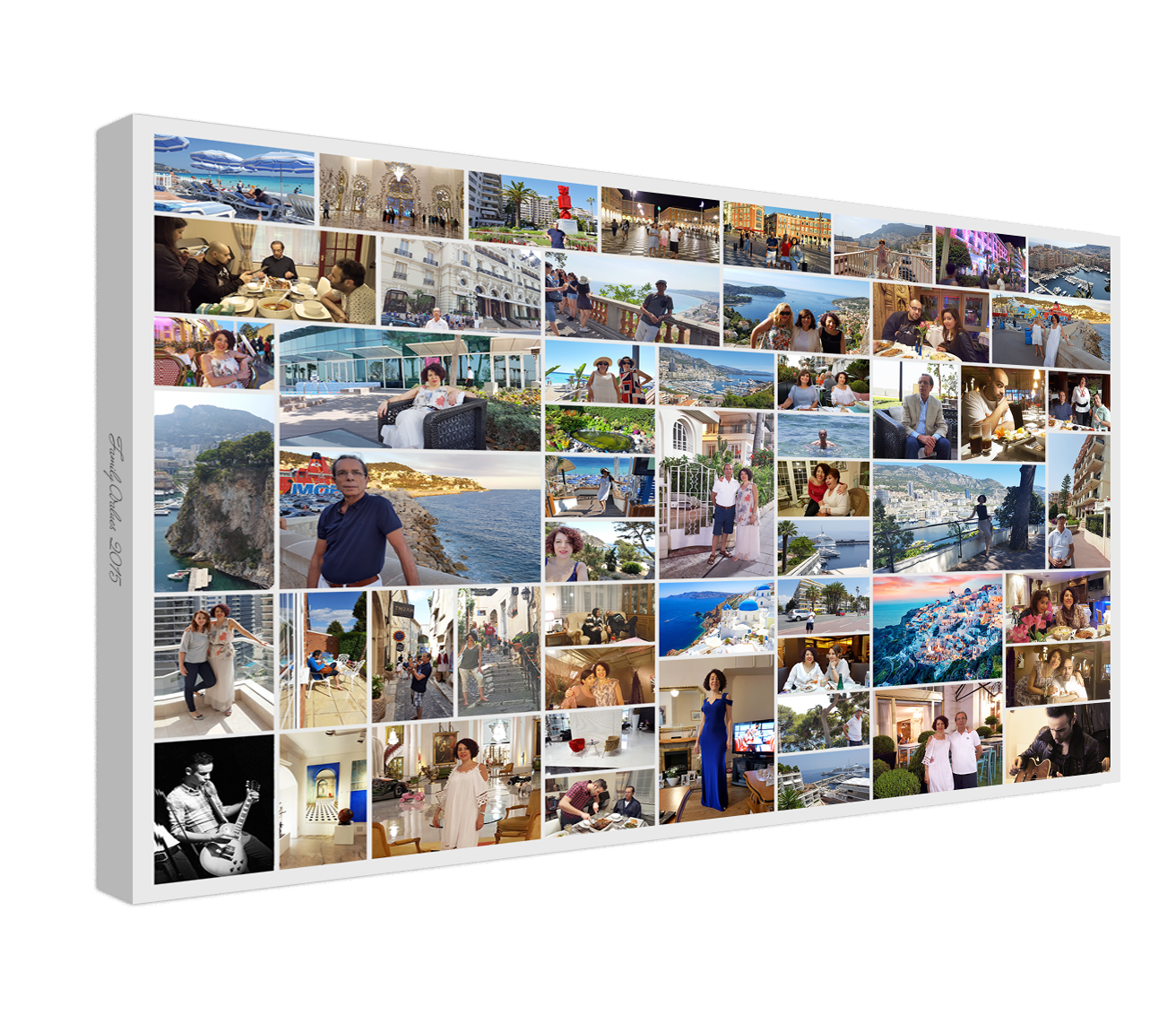 Custom Collage - A custom designed photo collage that is perfect for a home display of your favourite photos.