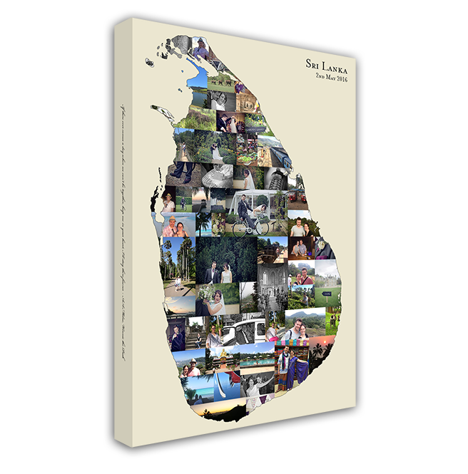 Map Collage - A perfect solution for your travel photos, custom designed into a map of your choice...