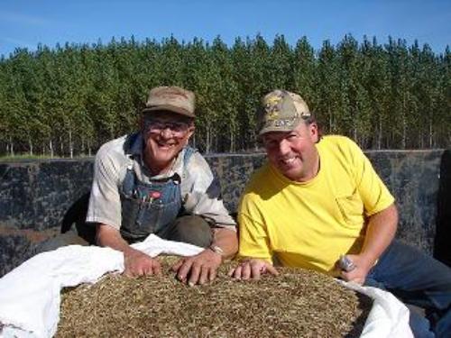 Tommy Godward (right)&his long-time helper Art Jensen