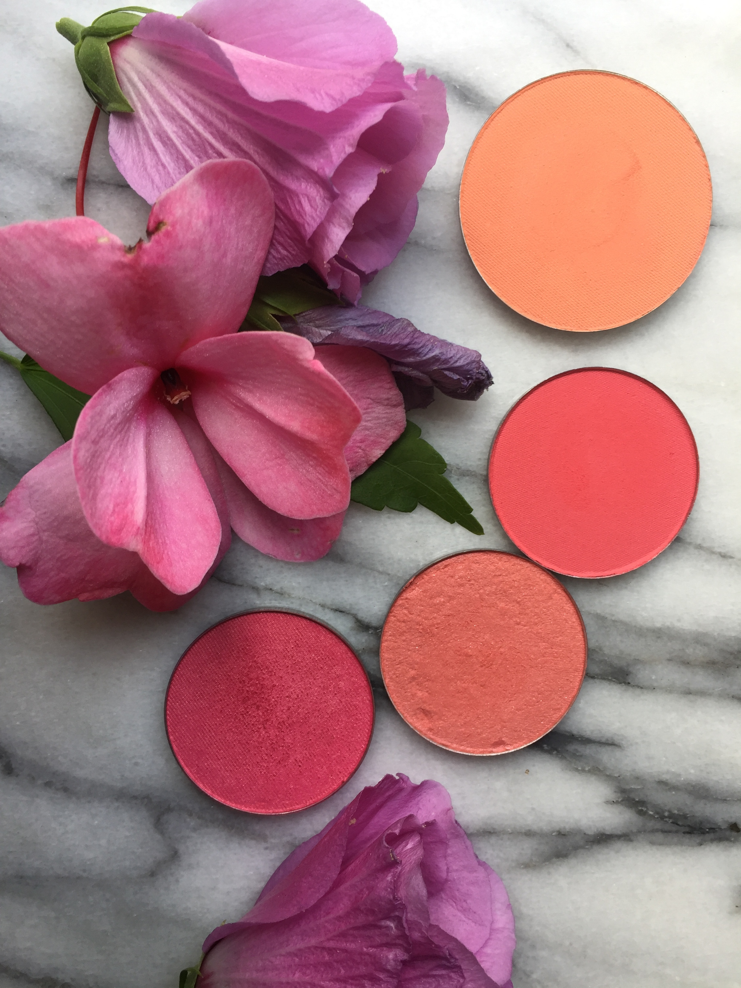 Peach and Coral | Makeup Geek Summer Fling, La Femme Golden Rose, Coral and Peach Sparkle