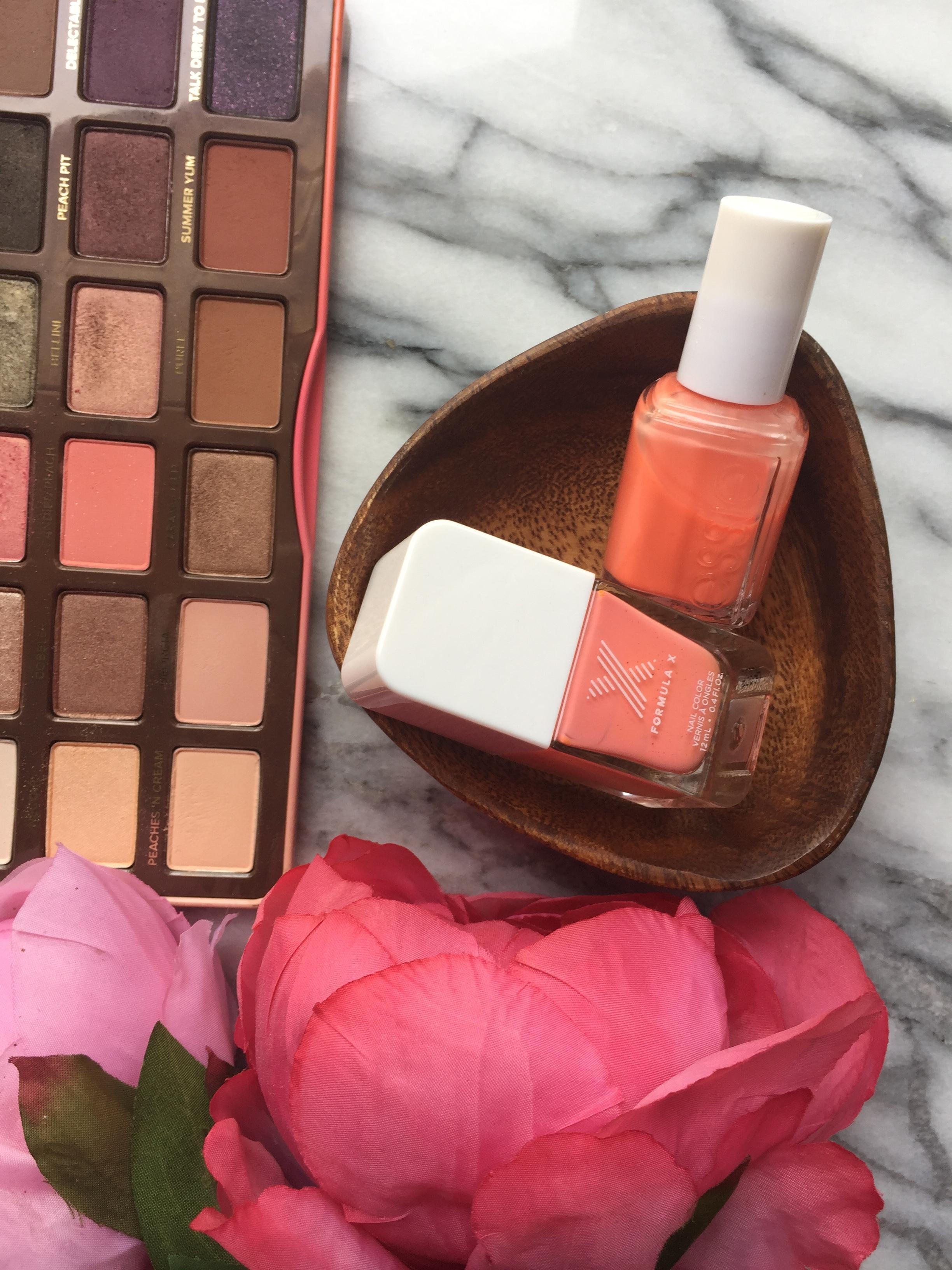 Peach Coral | Sweet Peach Palette, Essie and Formula X Nail polish