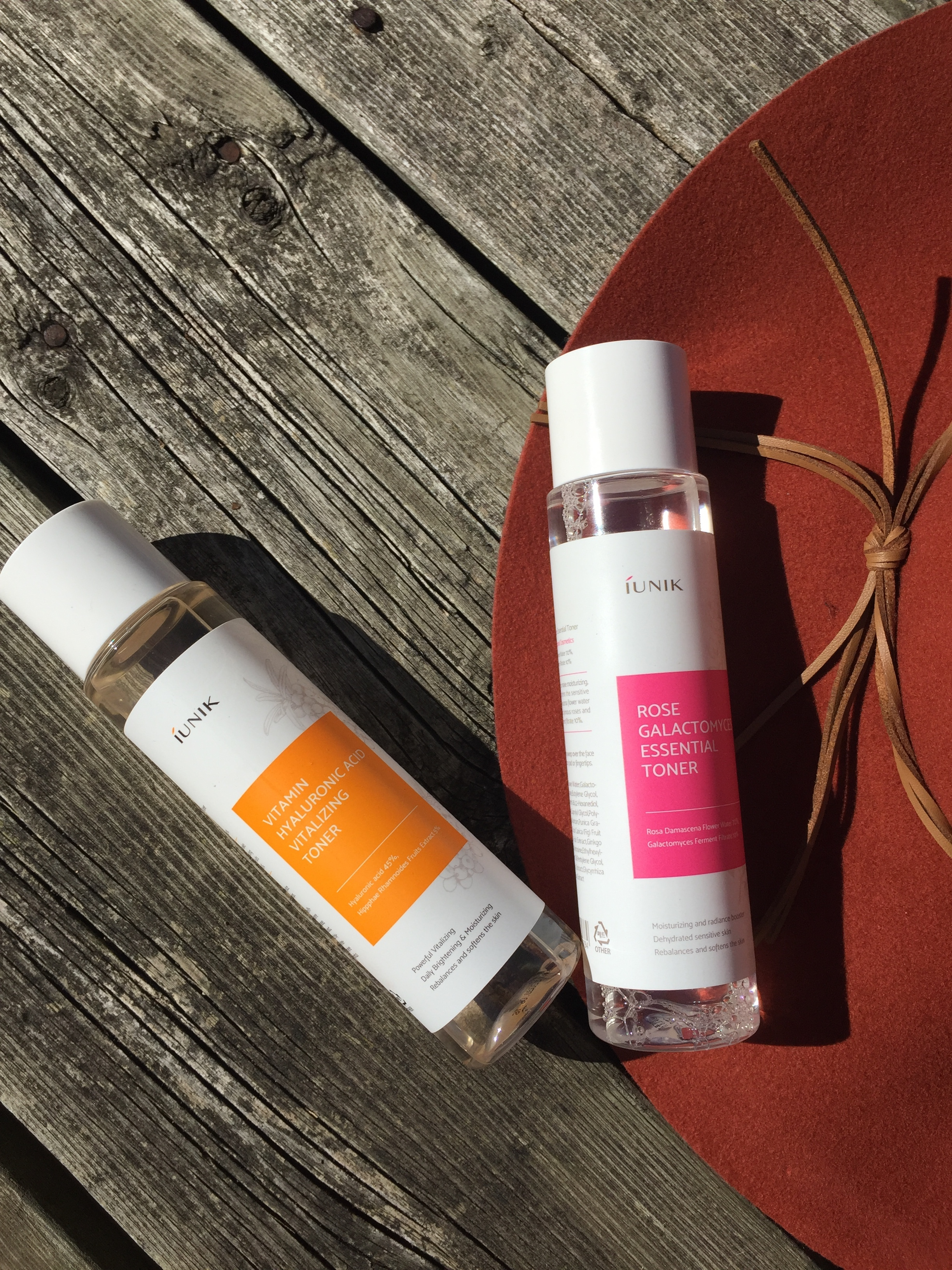 Iunik Rose and Vitamin C toners
