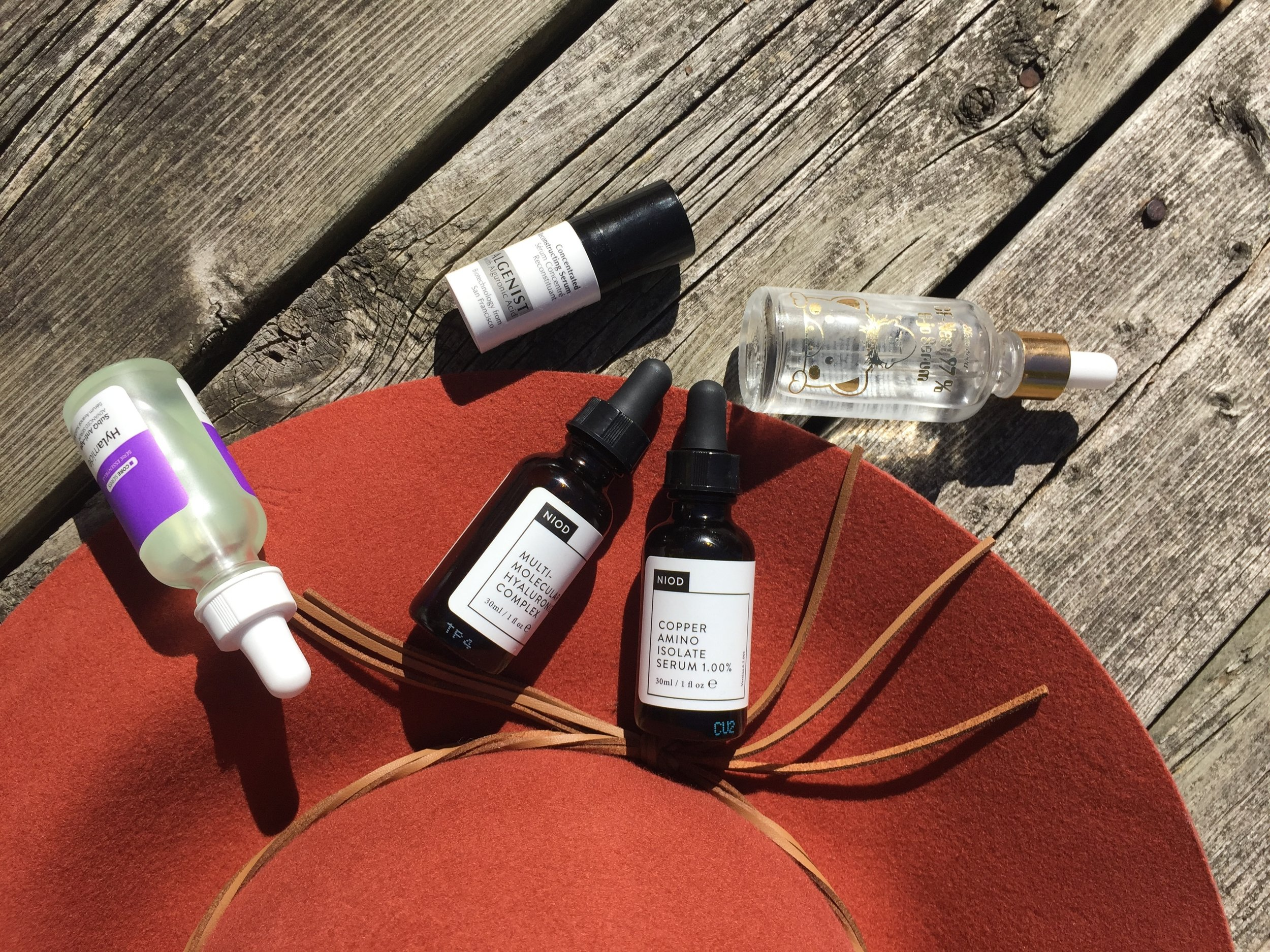 NIOD, Hylamide, Eliza Vecca and Algenist Serums