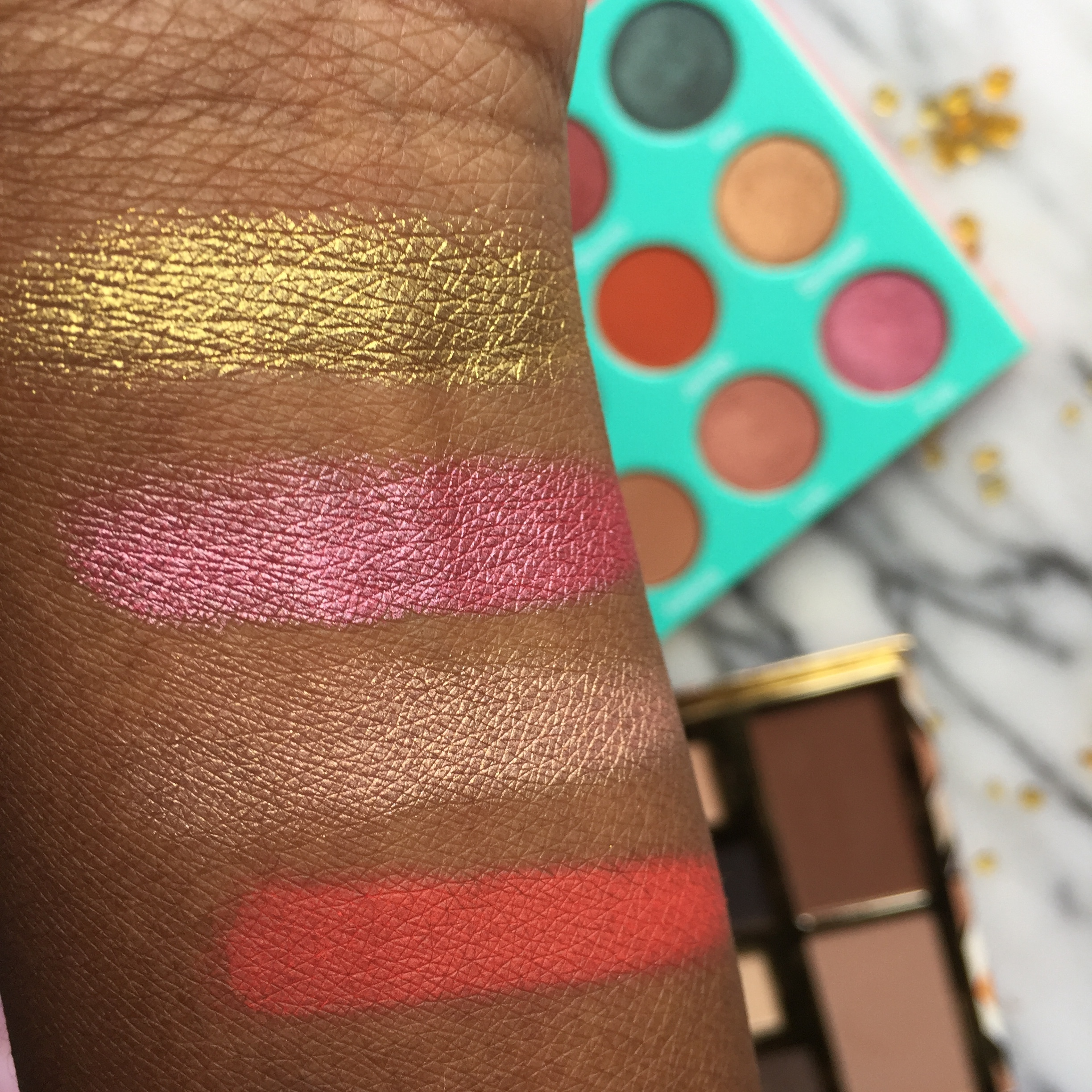 Swatches of The Juvia's Place The Saharan Eyeshadow Palette