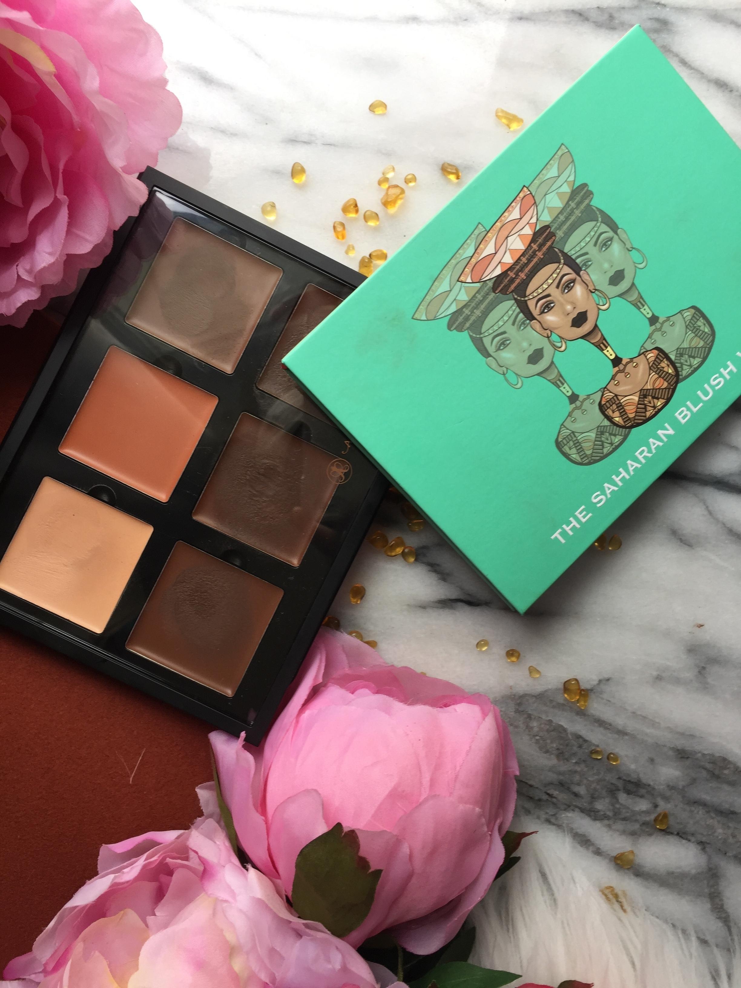 Anastasia Cream Contour Palette and Juvia's Place The Saharan Blush Palette
