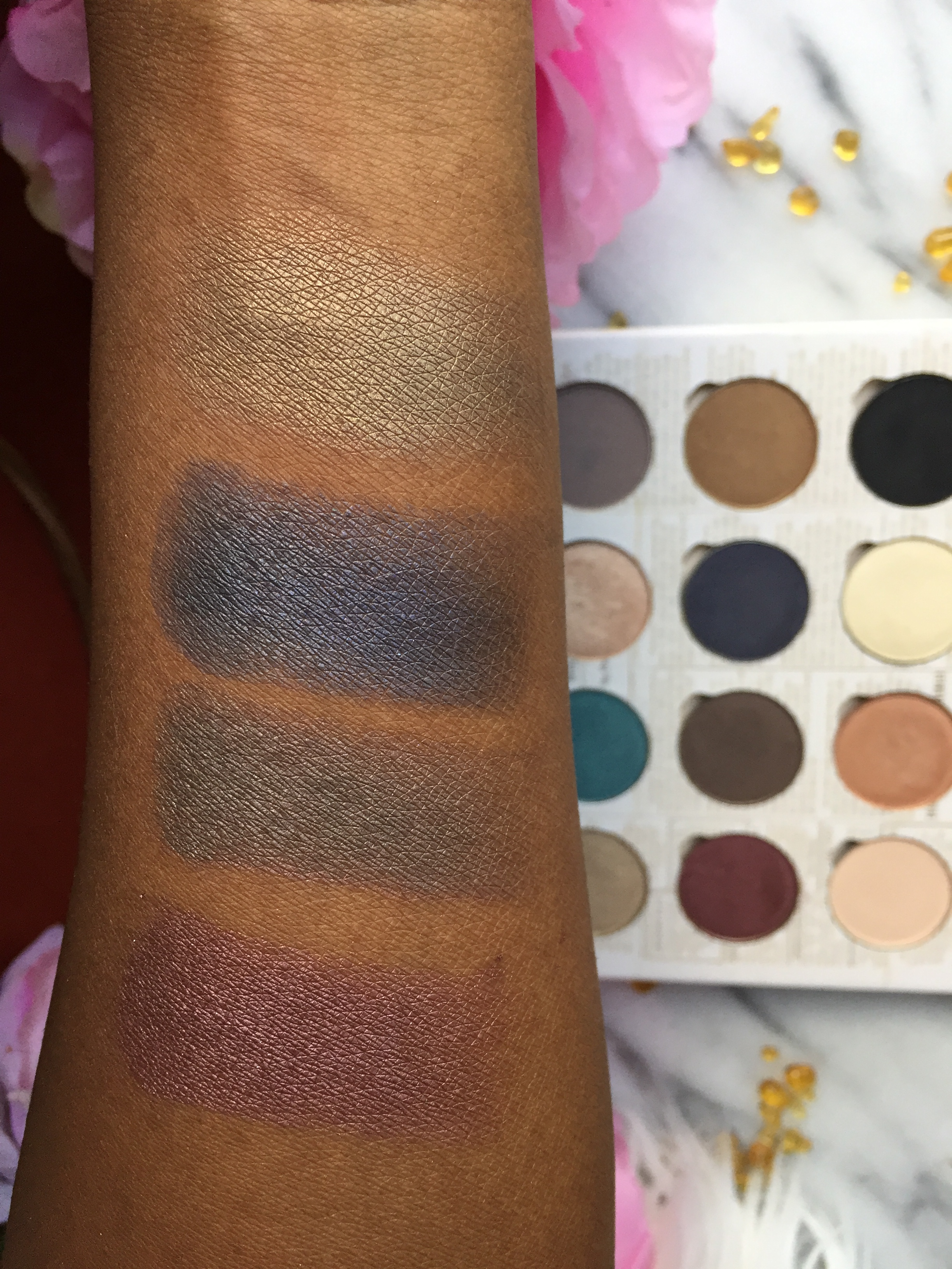 Brush Swatches L to R: #28, #37, #5 and #10
