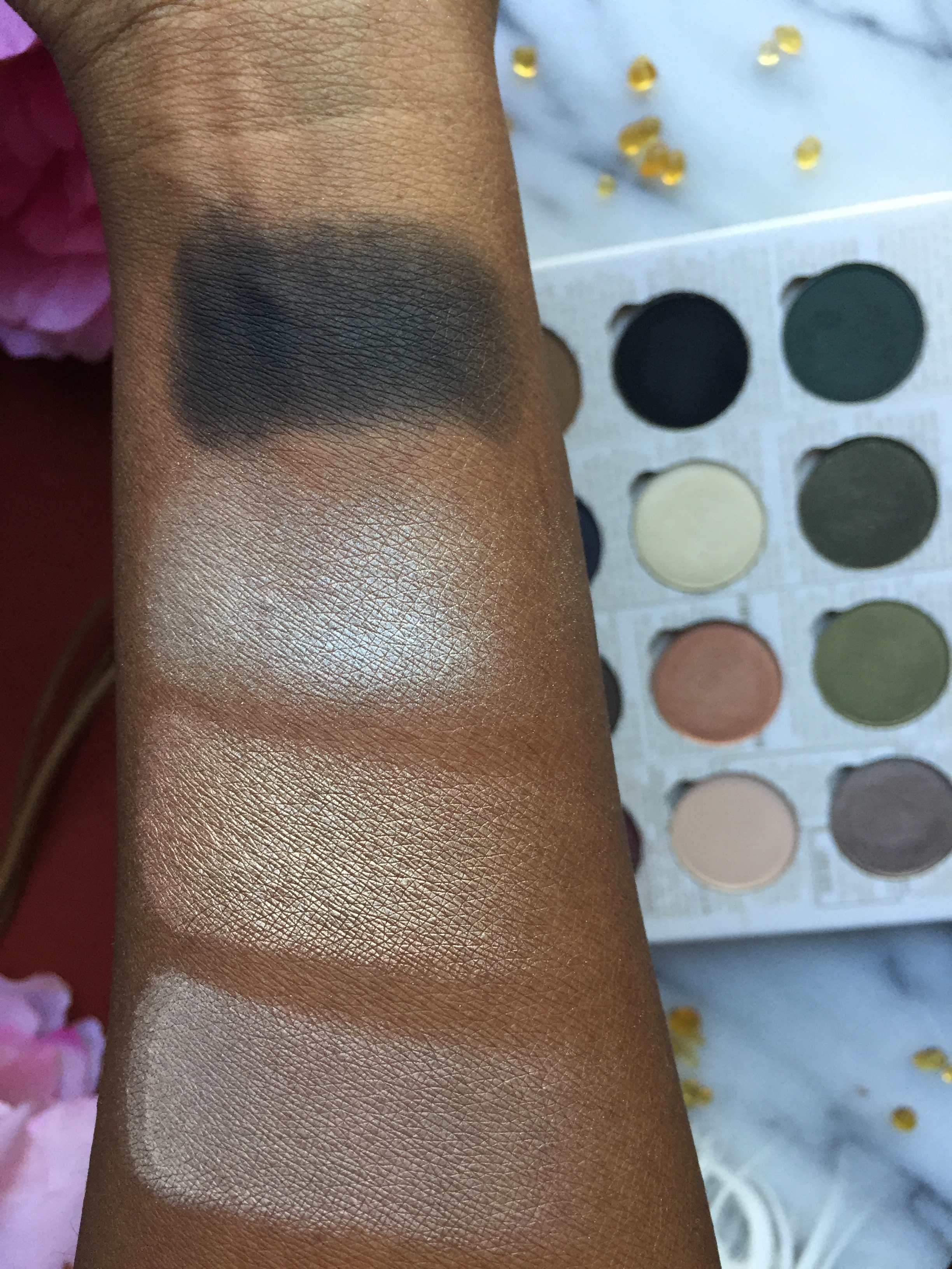 Brush Swatches L to R: #24, #21, #38 and #9