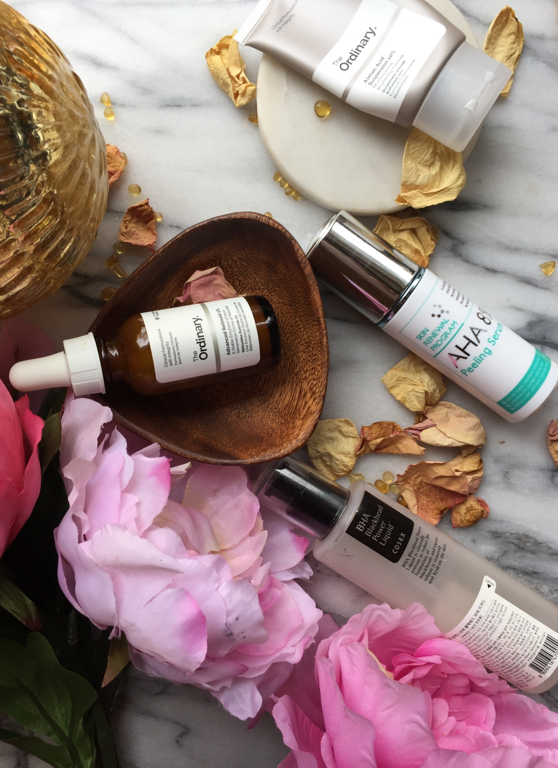 The Chemical Exfoliants I Currently Use