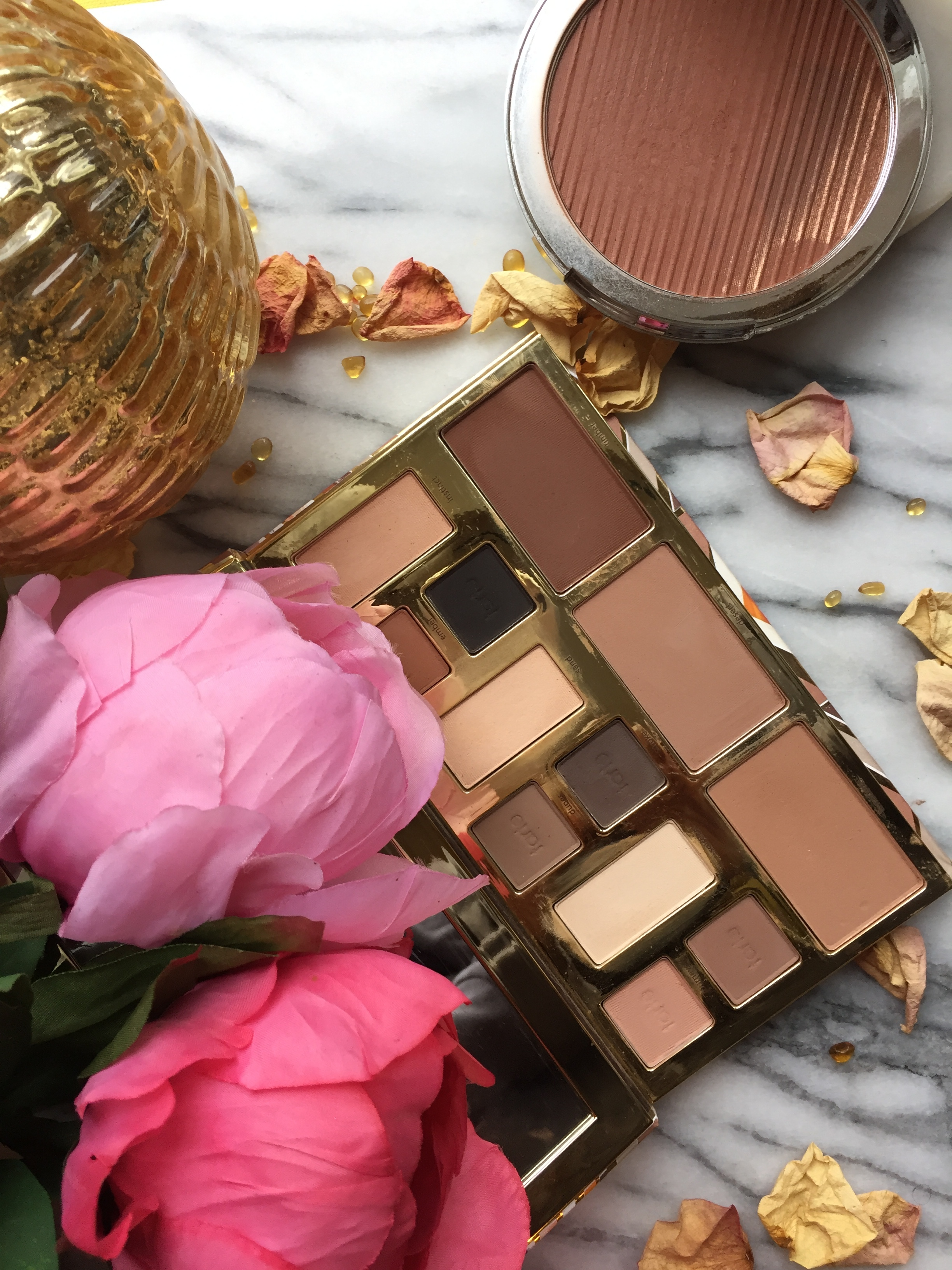 Tarte Clay Play Face Palette and Estee Edit The Barest Bronzer