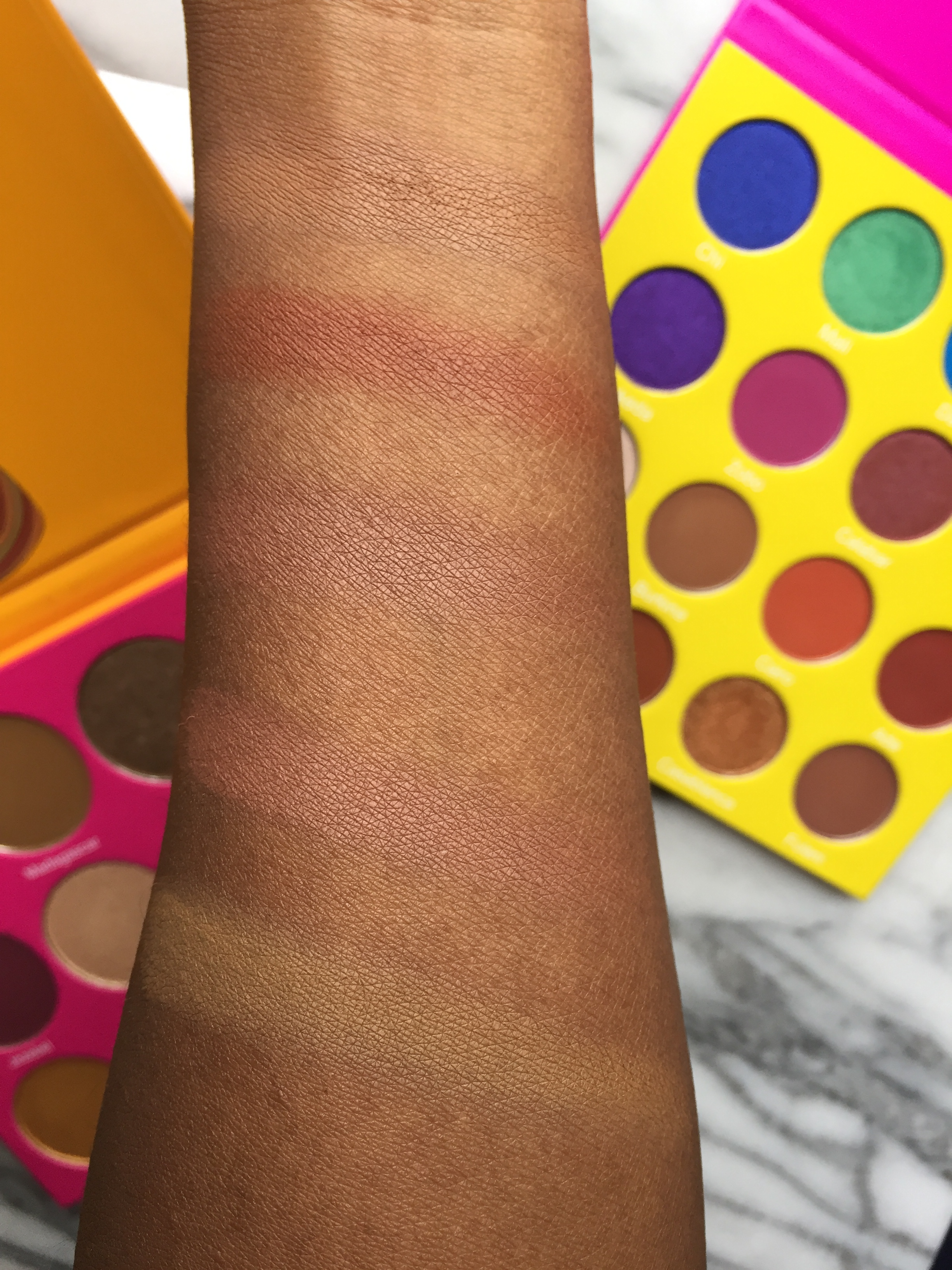 Juvia's Place Palette Comparison | L to R: (N2) Madagascar, (N1) #10, ( M) Fulani, (M) Zulu, (M) Burkina