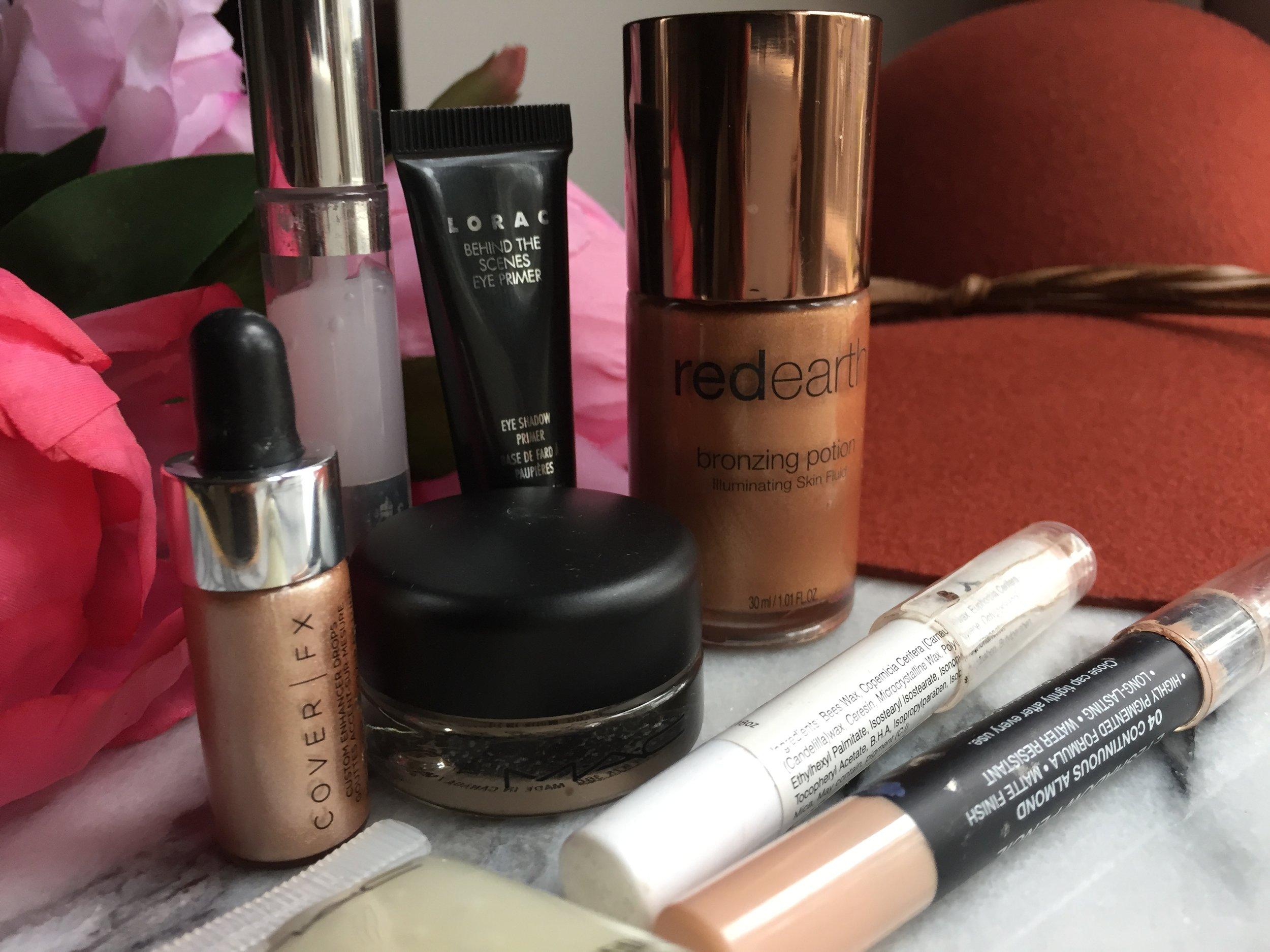 Eyeshadow bases for vibrant long last colour