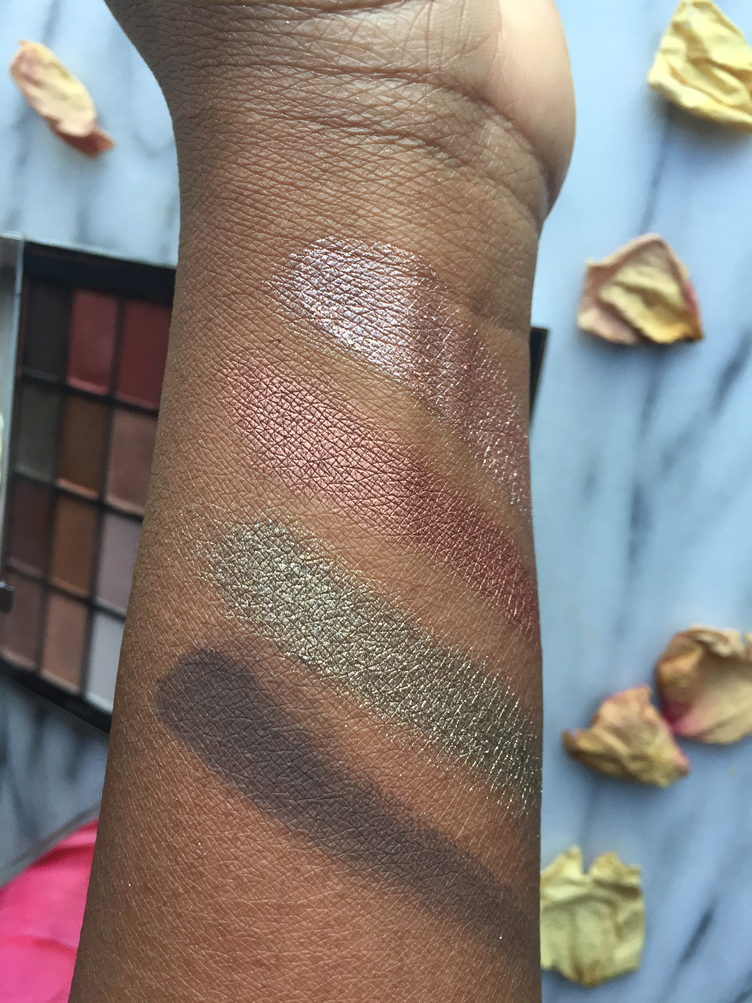 Finger Swatches L to R: Coconut Grove, Fallen Star, LaLa, Shooting Star