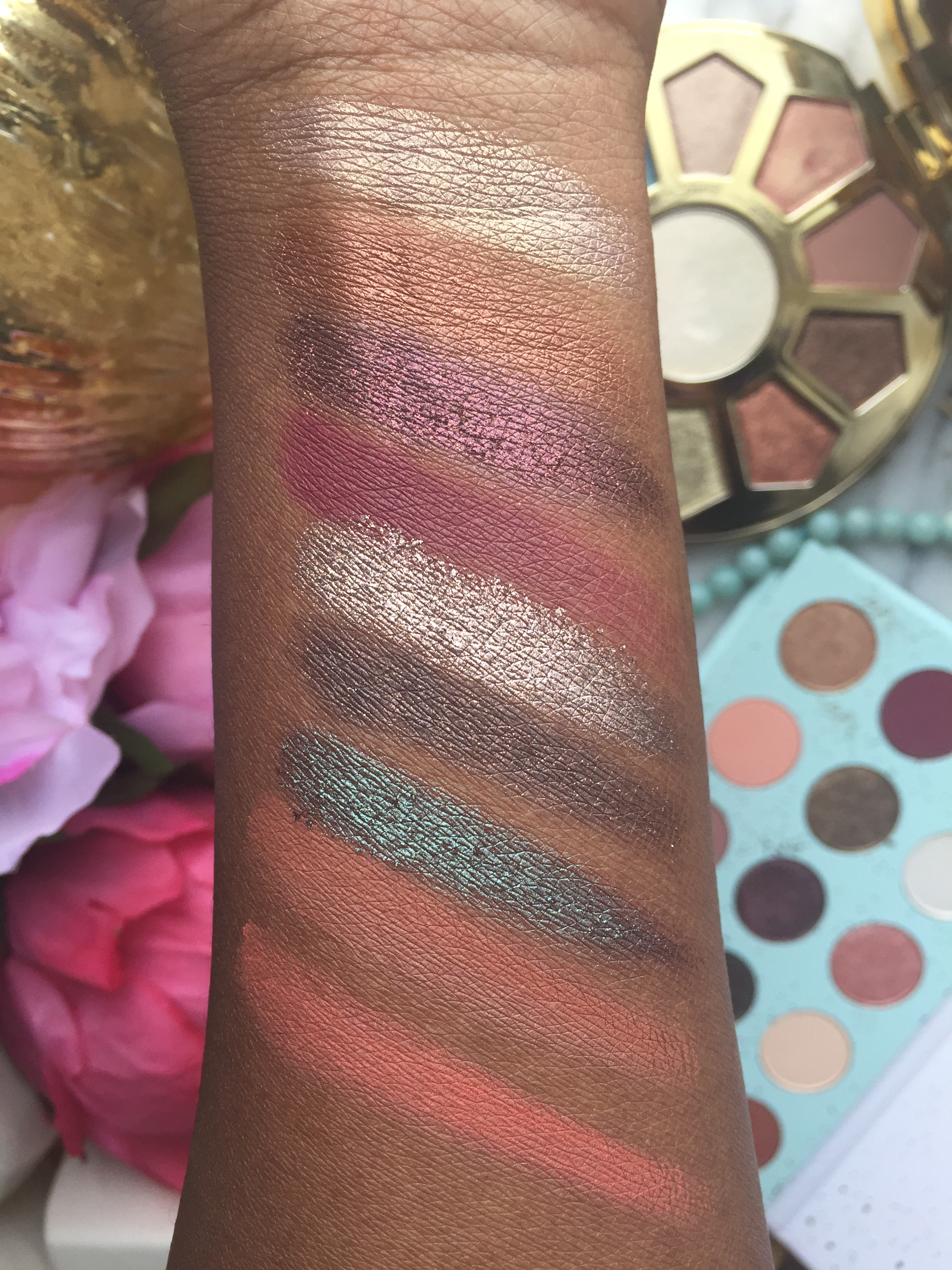 Swatches of All I See is Magic and Make Believe in Yourself Palette