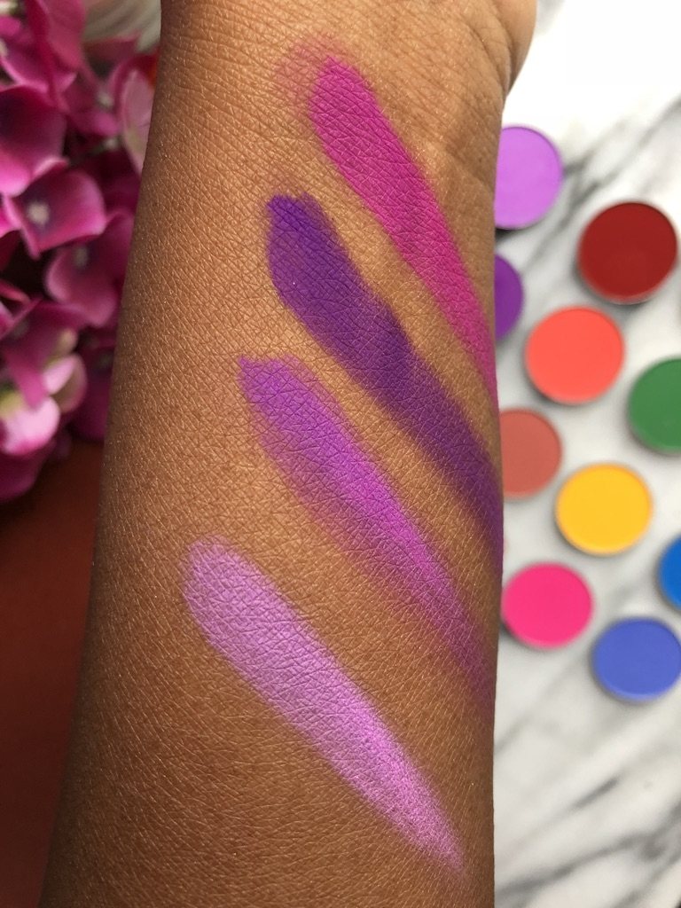 Coloured Raine | L to R: Cute, Vibes, Purp Smurf and Bossed Up