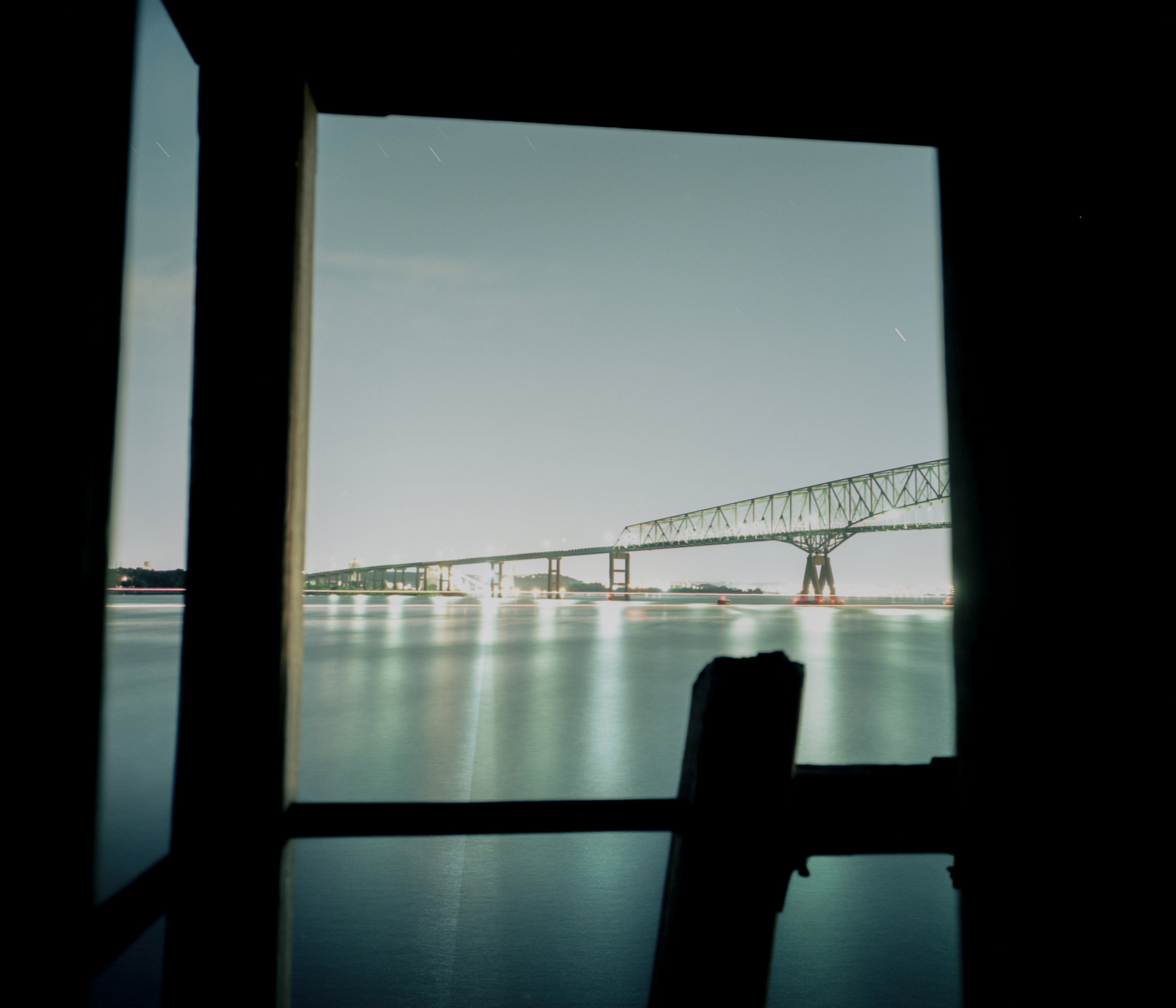 Key Bridge from inside the Lighthouse