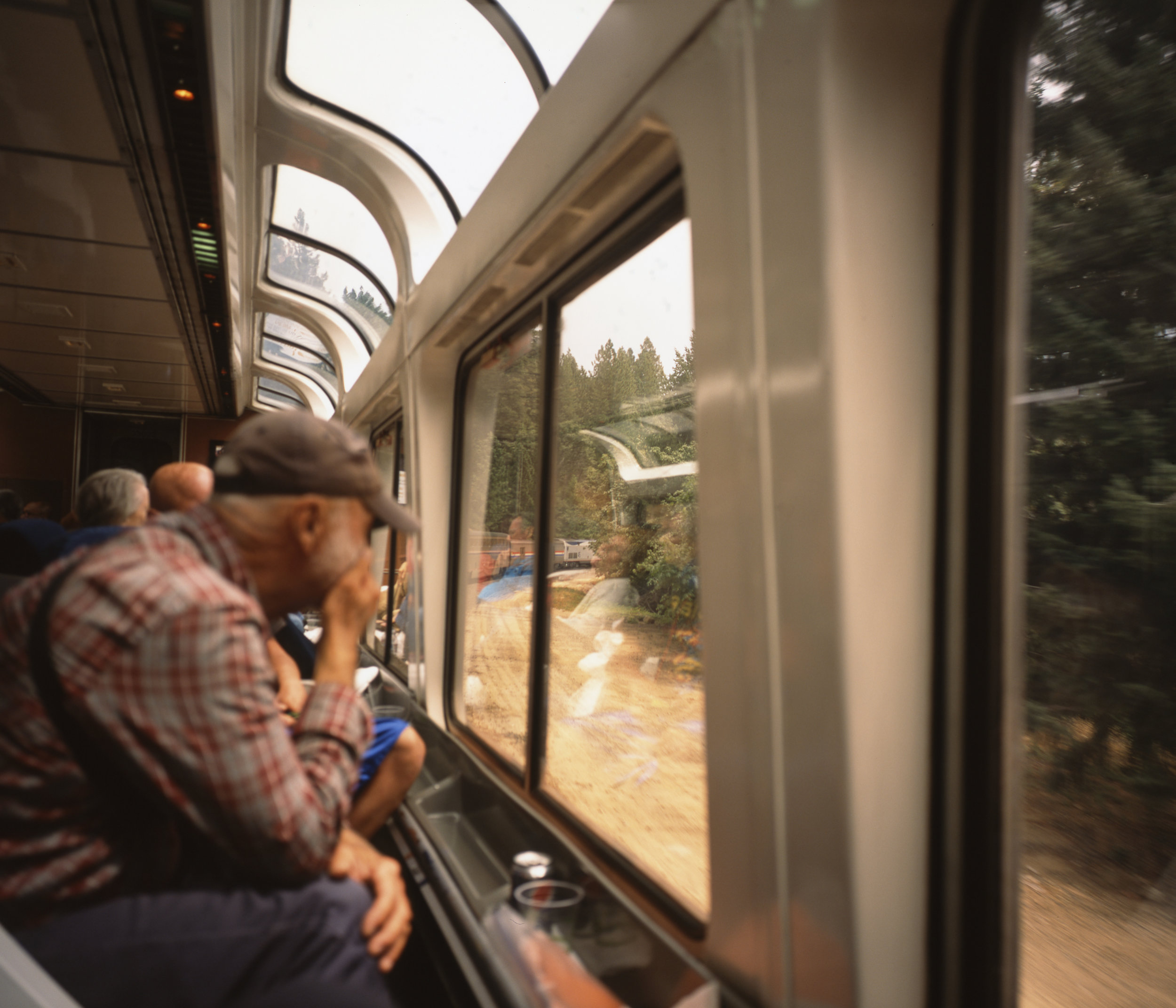 The Dome car provides panoramic scenic views