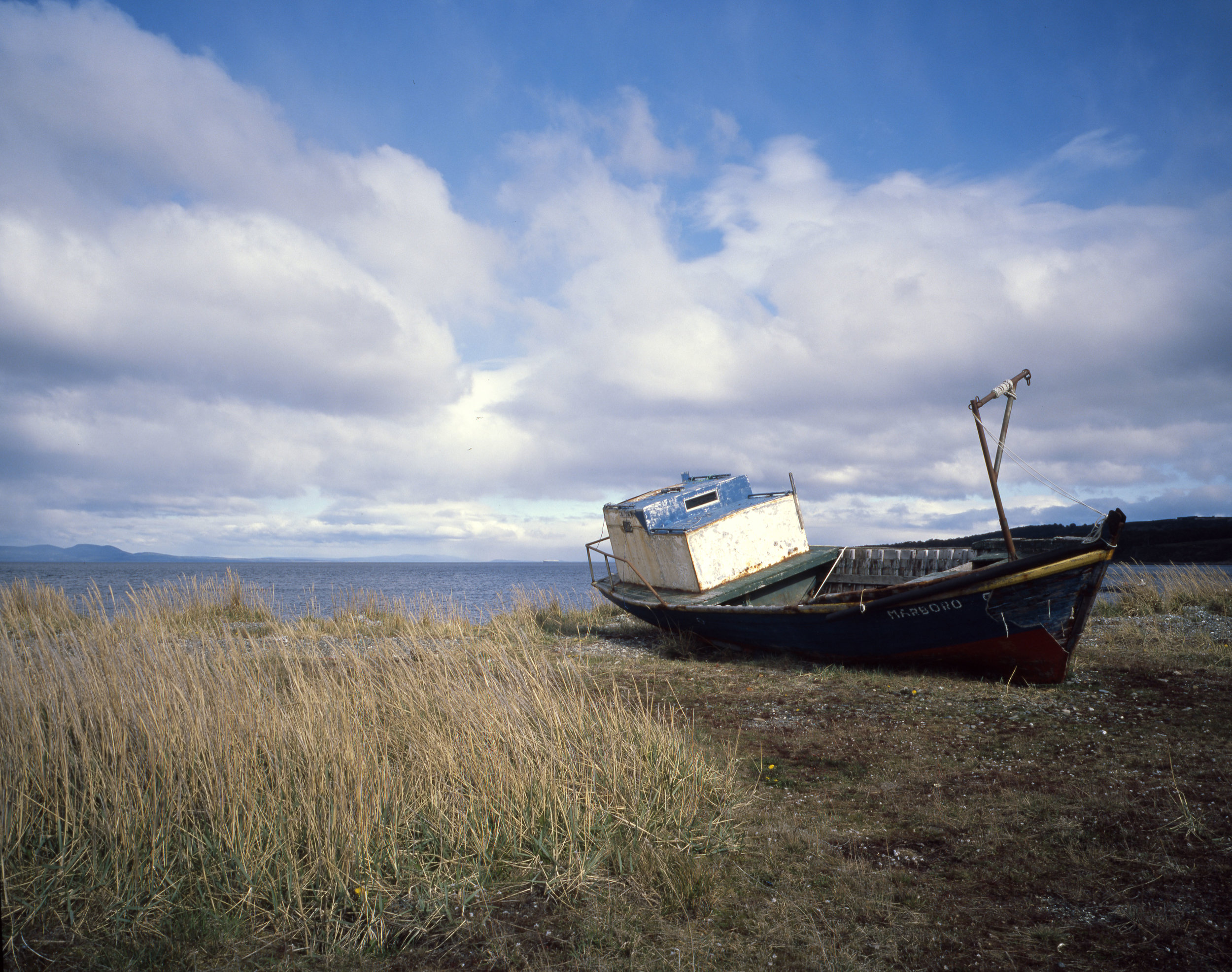 Southern Patagonia is littered with abandoned boats Fuji GF670w - Kodak E100gx