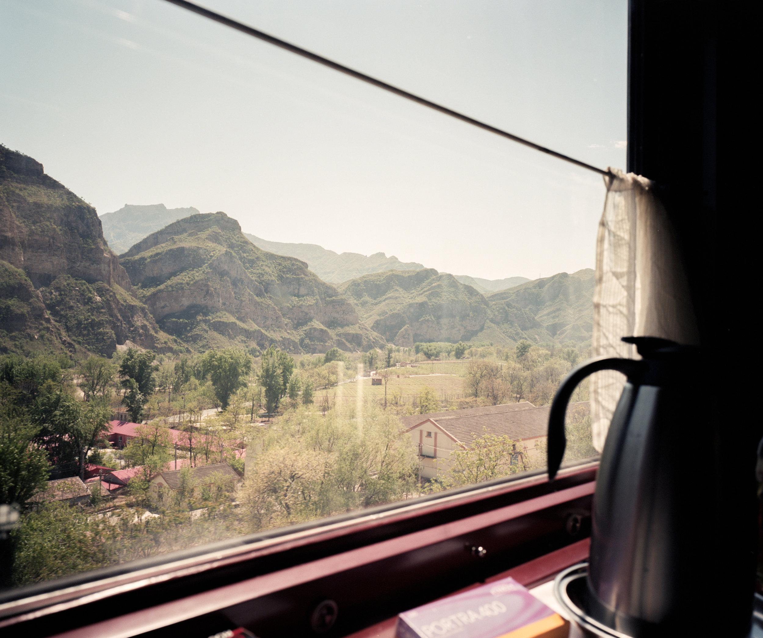 Through the mountains in China Fuji GF670w   Kodak Portra 400