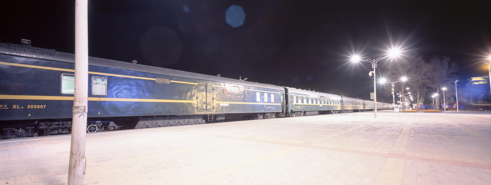Our train in Erenhot, China P614   Super Angulon 58mm   Fuji Provia 100f