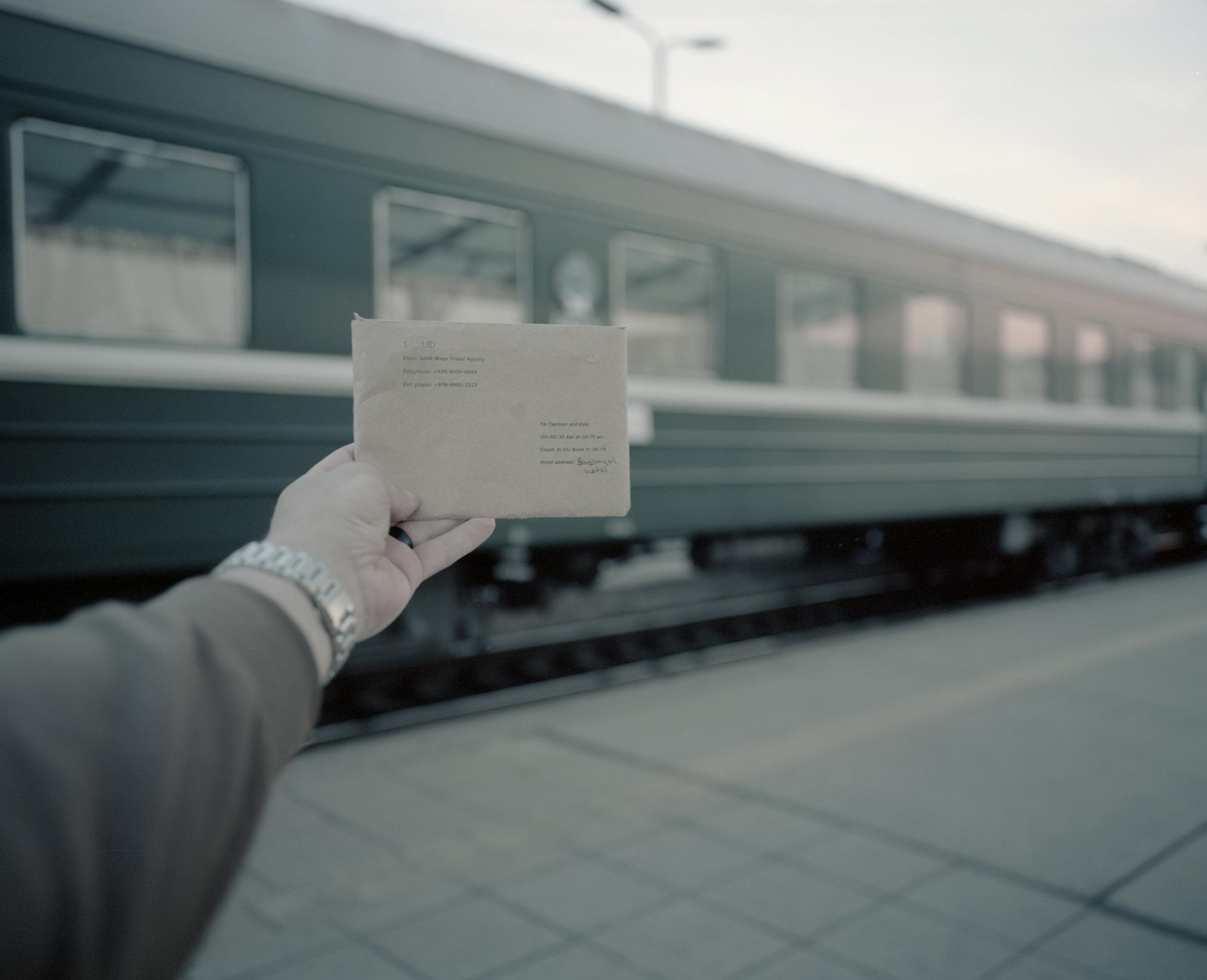 Our tickets to Irkutsk Fuji Gf670w   Kodak Portra 400