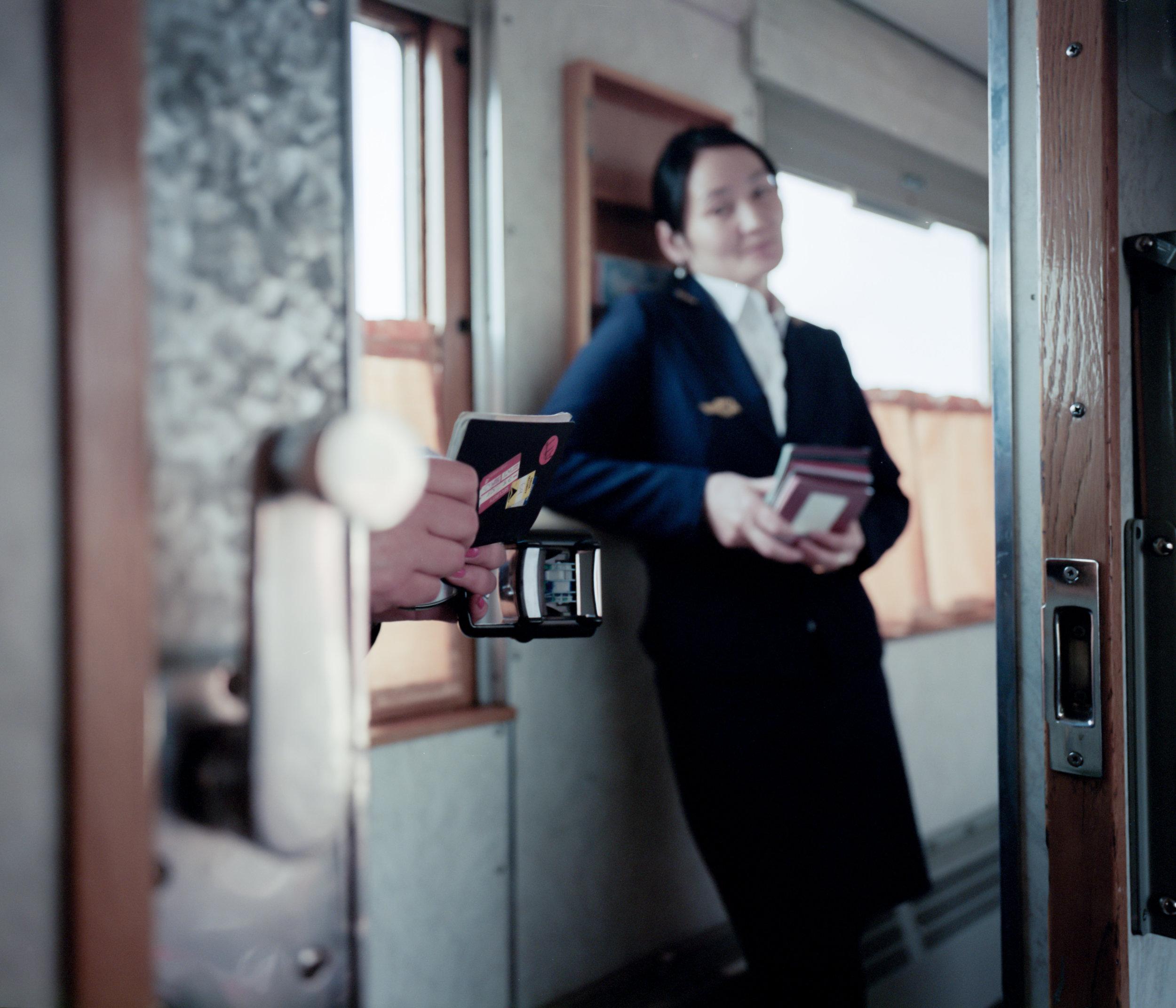 Border Check (this is my favorite photo from the trip) Fuji GF670w   Kodak Portra 400