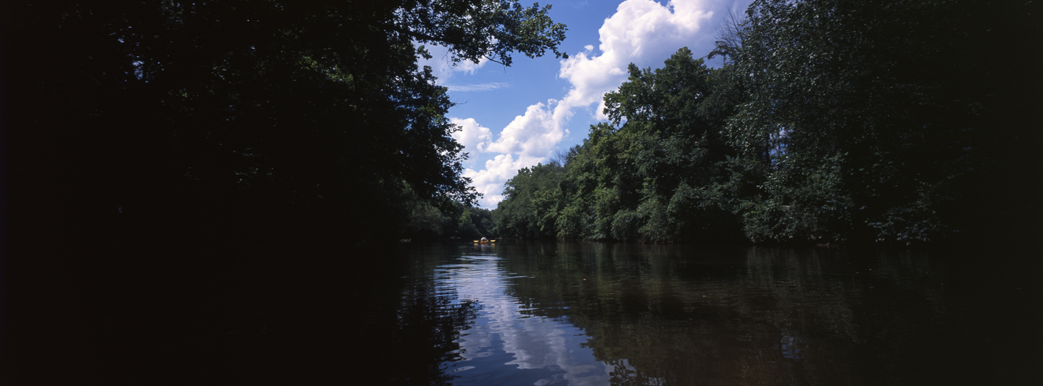 The start of the paddle is very wooded P6x14 | Super Angulon | Provia 100f