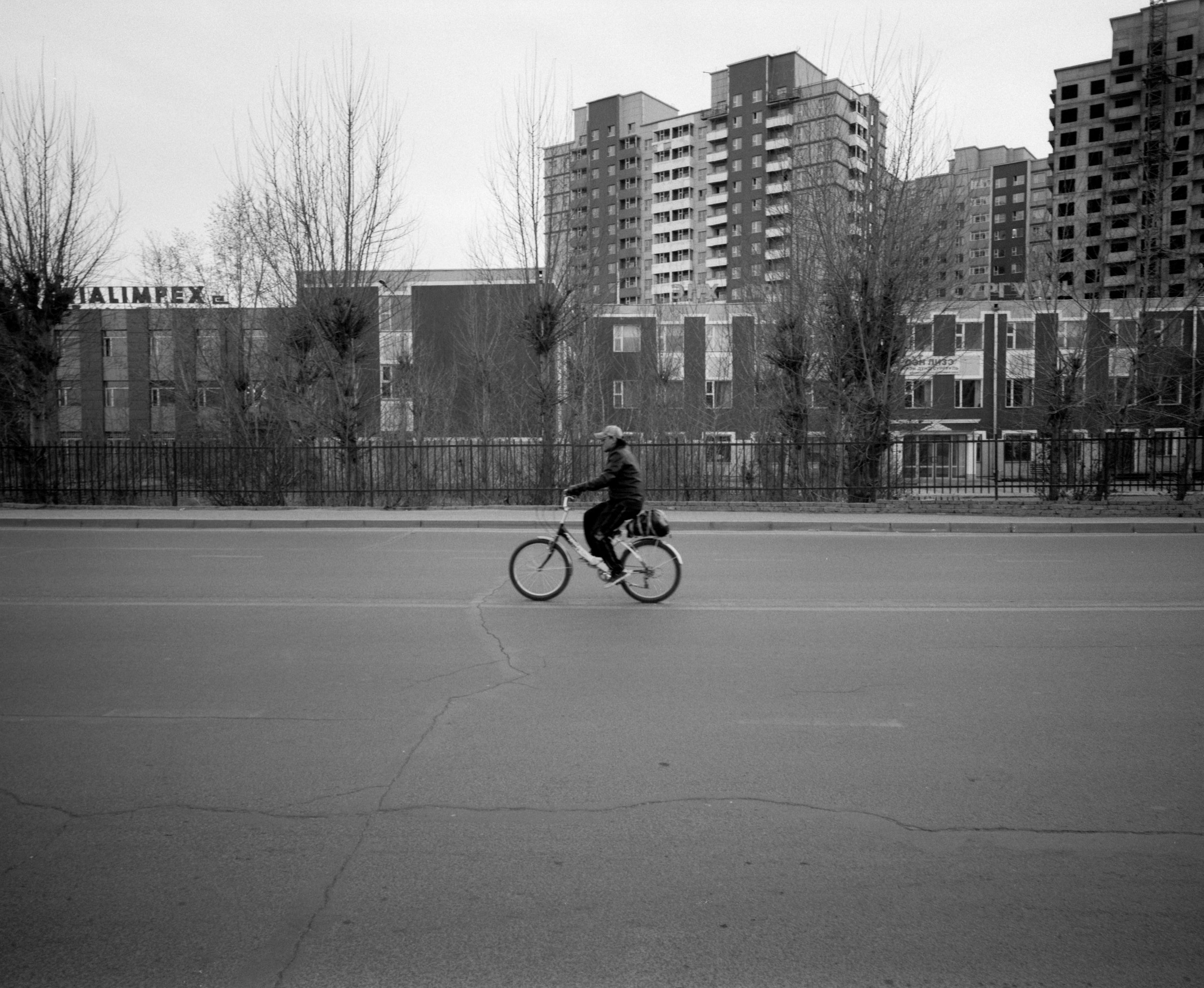 Biker Fuji GF670w | Ilford HP5 at 1600