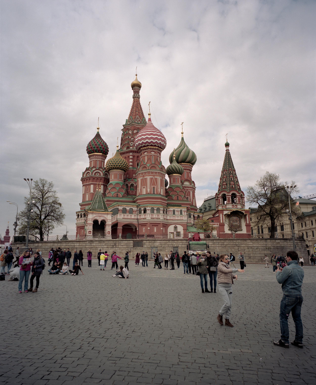 Moscow's Red Square Fuji GF670w | Kodak Portra 400
