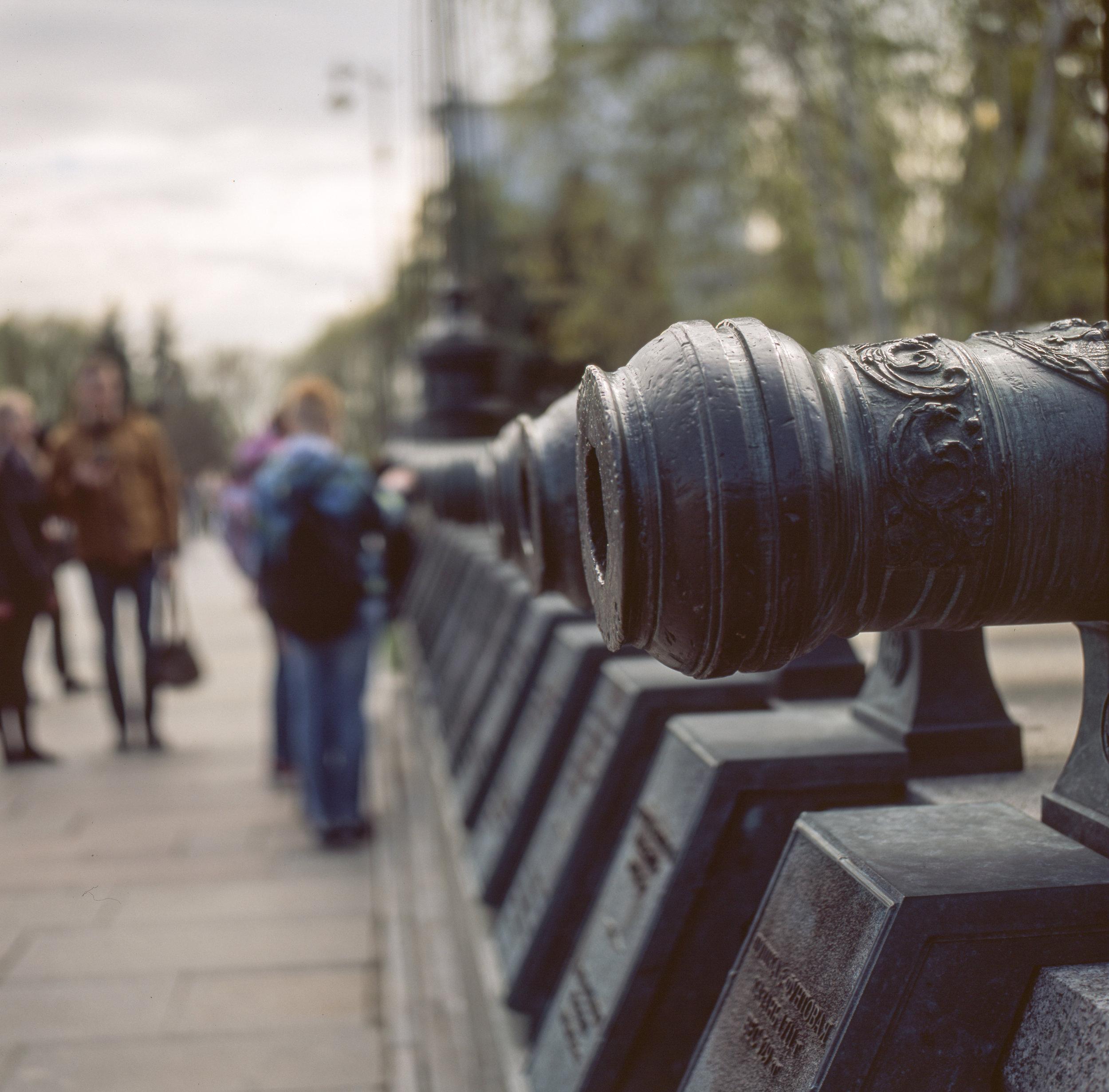 Cannon at the Kremlin Fuji GF670 | Fuji Provia 100f