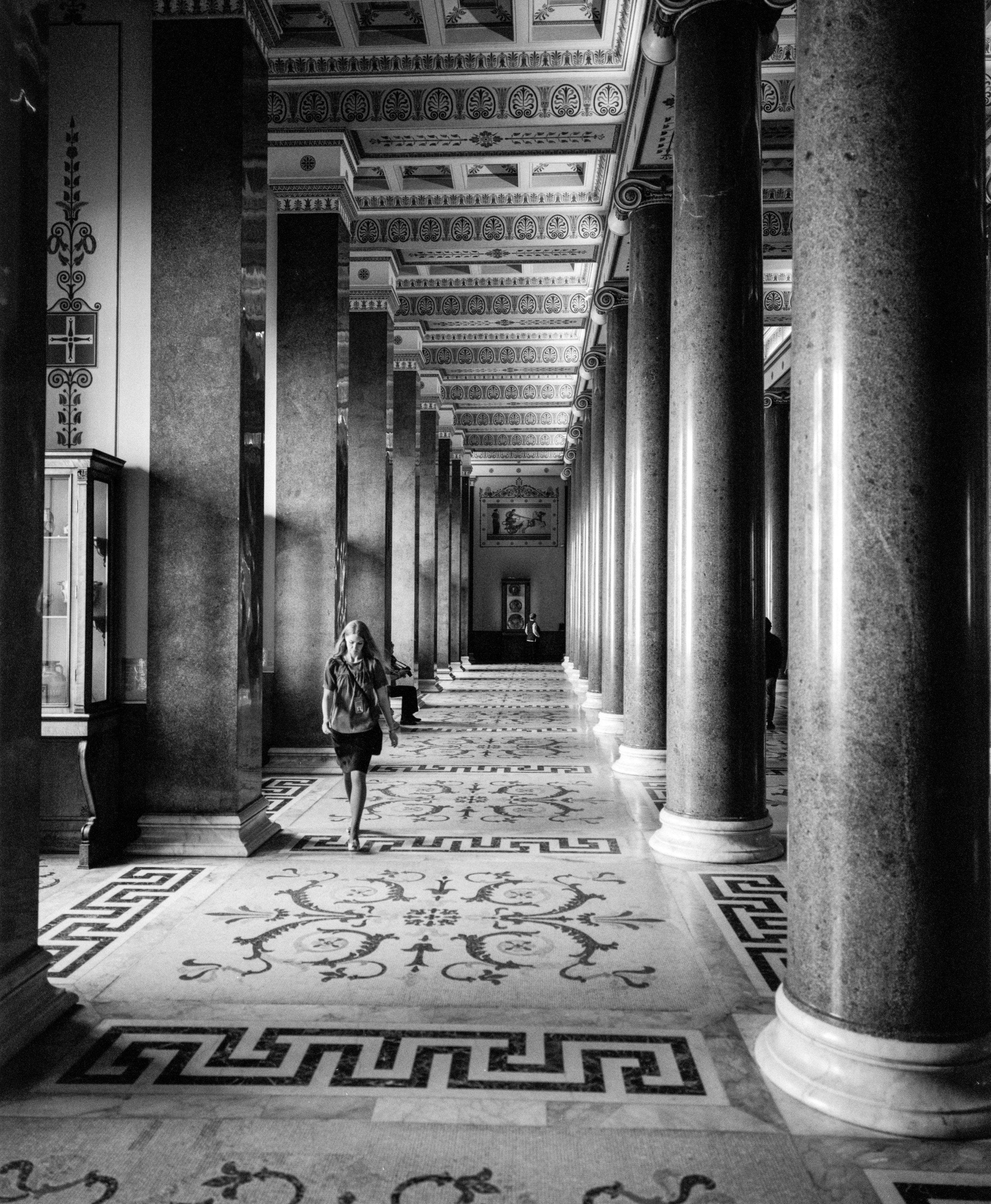 The massive and beautiful halls at the Hermitage Fuji GF670w   Ilford HP5