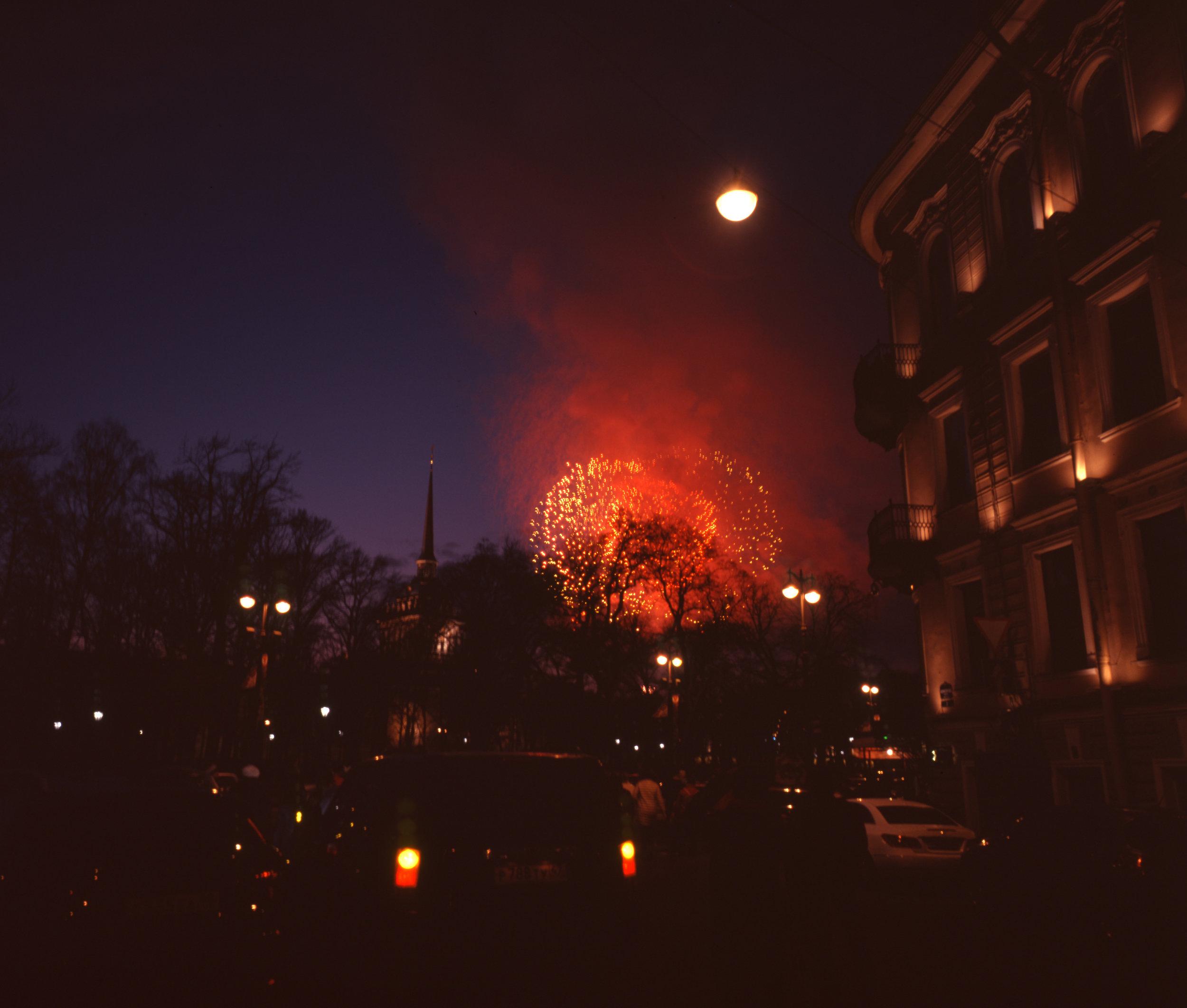 Midnight Fireworks Fuji GF670w   Fuji Astia 100f
