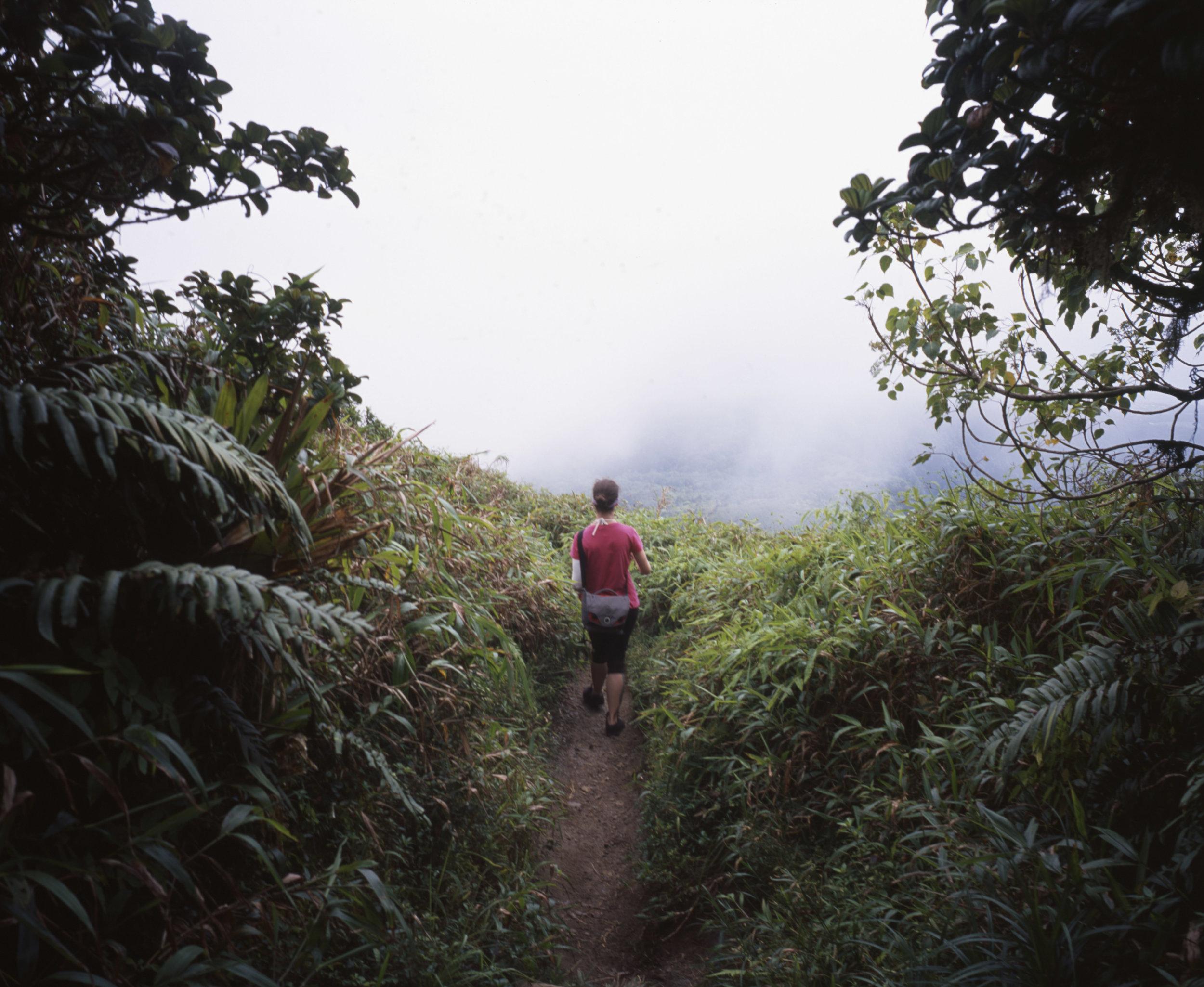 I'd follow this woman anywhere, even  Mount Pelée  Fuji GF670w | Fuji Provia 100f