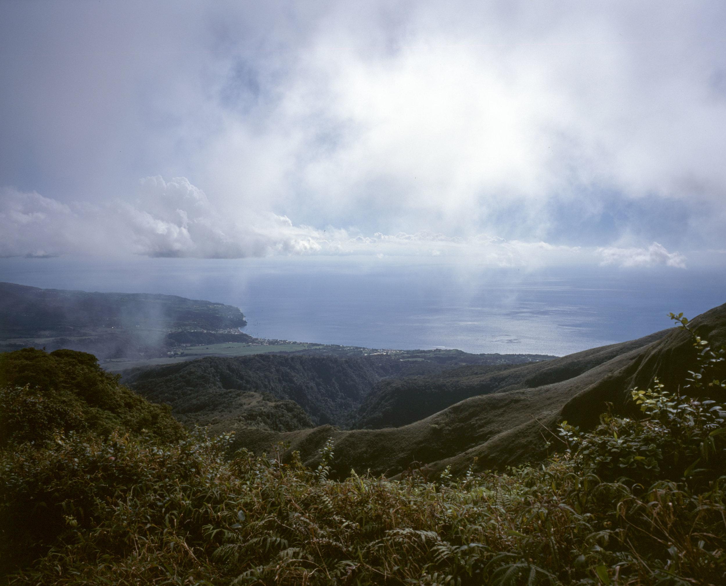 The view up the hike, before we got into the clouds Fuji GF670w | Fuji Provia 100f